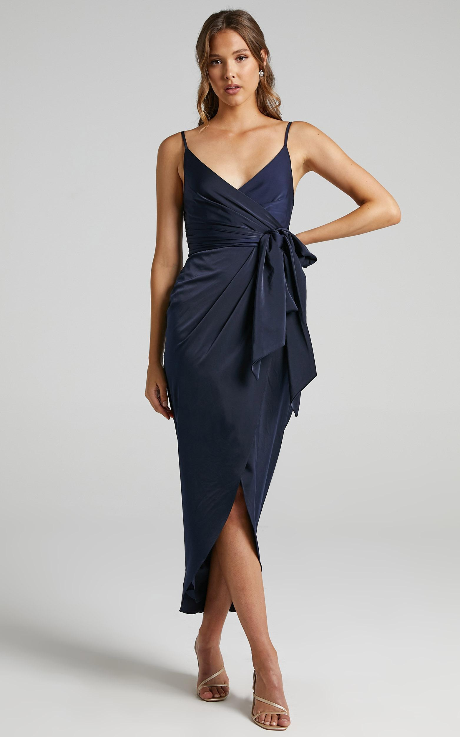 How Will I Know Dress in Navy - 20, NVY6, hi-res image number null