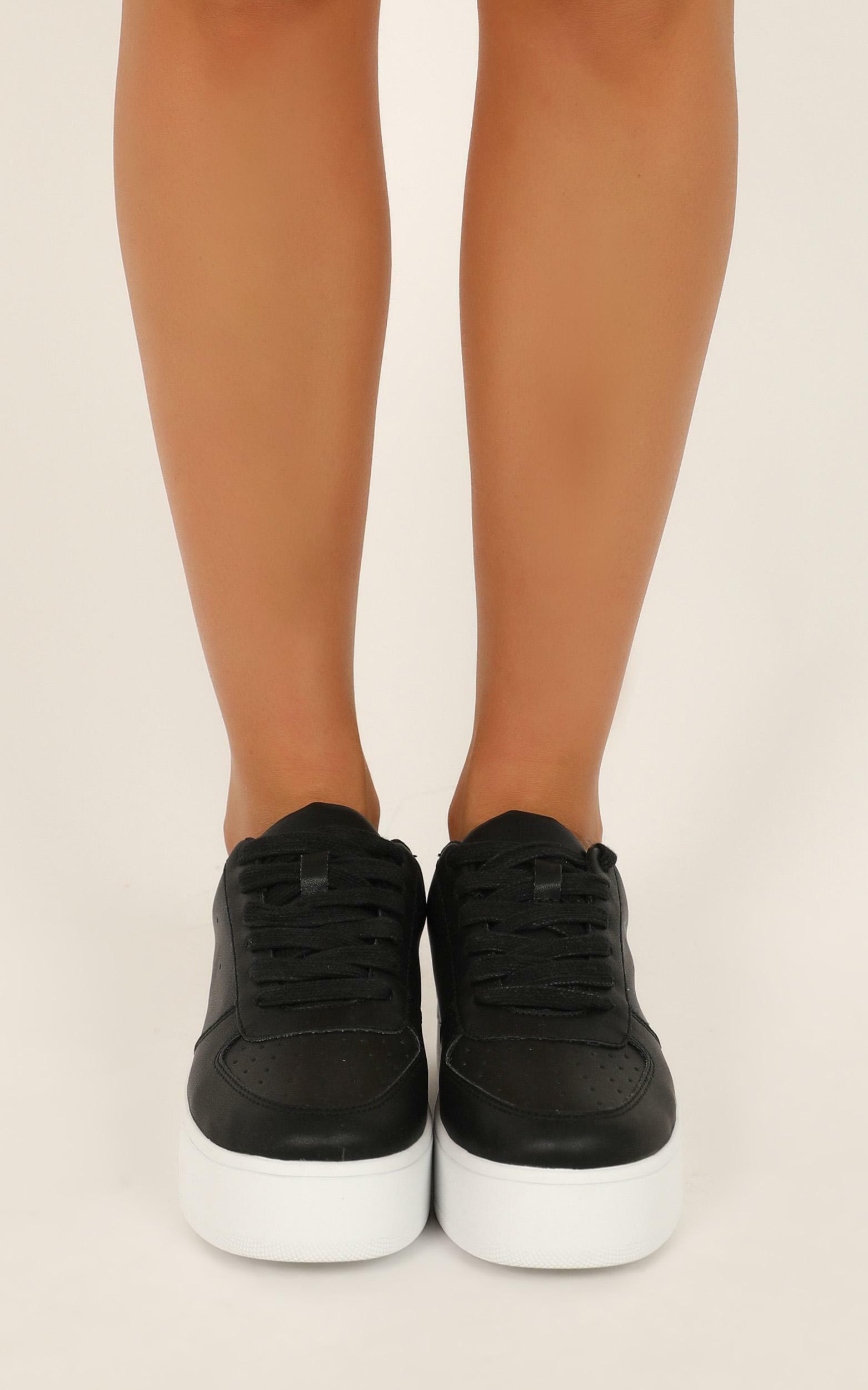 Verali - Pepper Sneakers in black smooth - 10, Black, hi-res image number null
