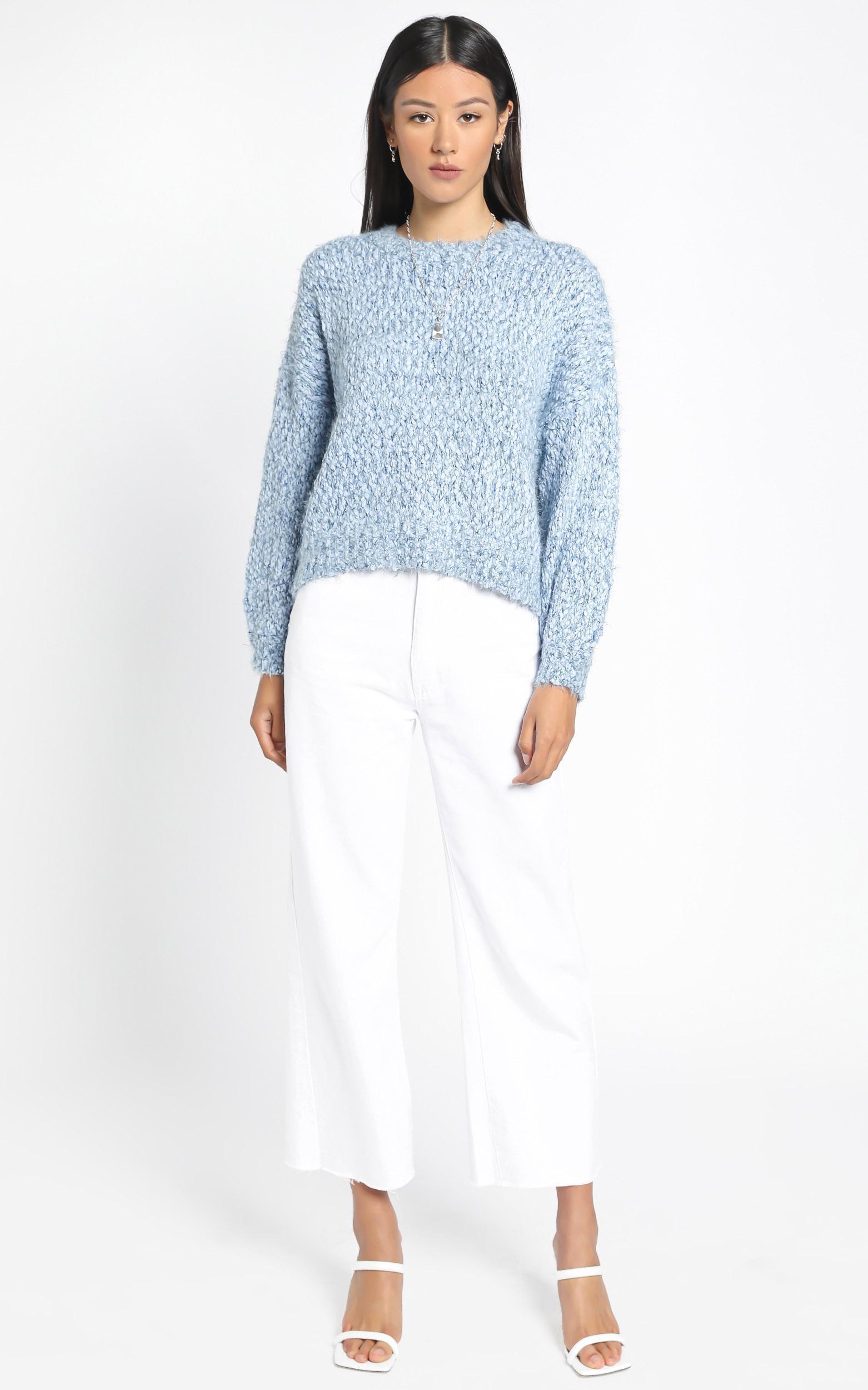 Gwyneth Jumper in Blue Marle - M/L, Blue, hi-res image number null
