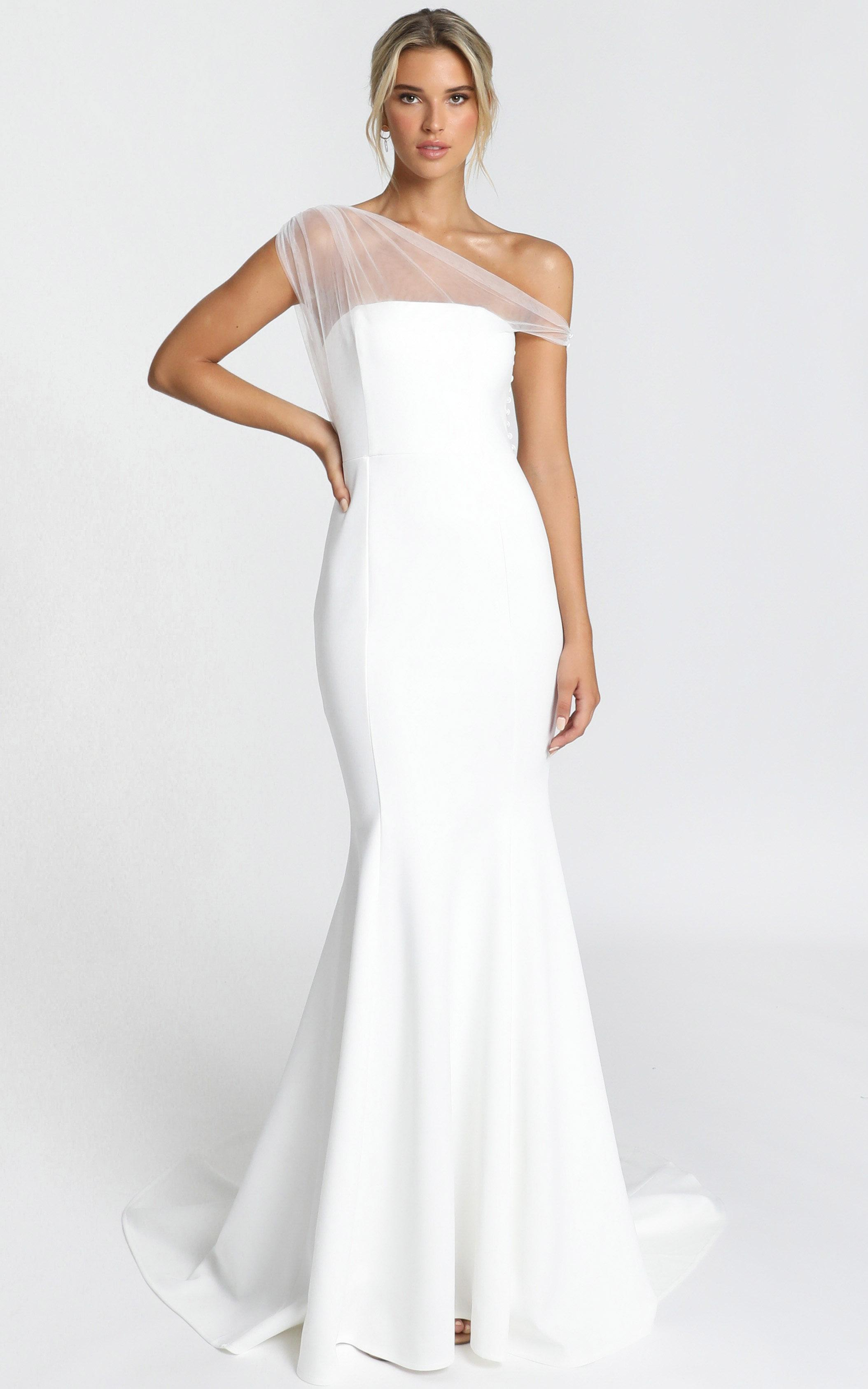 Put A Ring On It Gown In white - 14 (XL), White, hi-res image number null