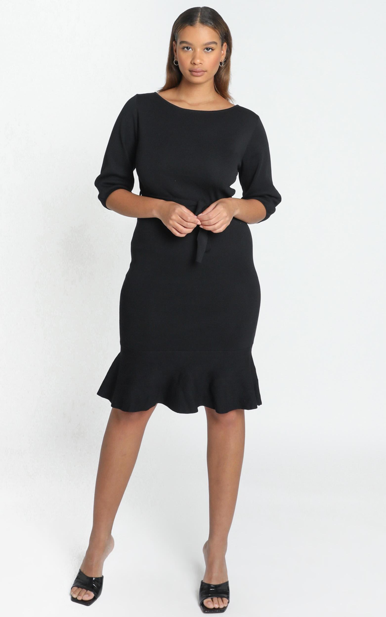 Jenna Knitted Dress in black - 6 (XS), Black, hi-res image number null