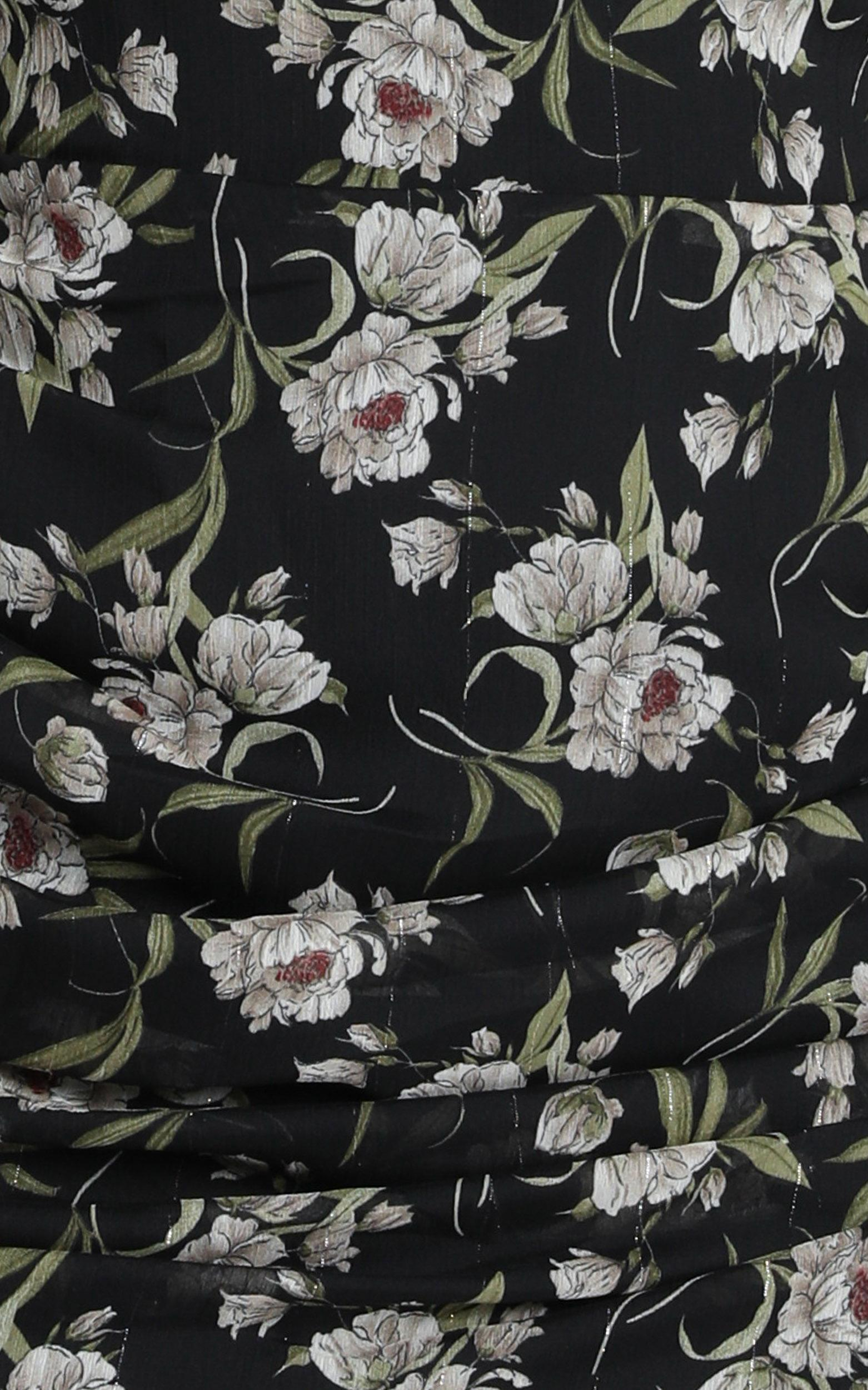 We Got The Flowers Dress In black floral - 20 (XXXXL), Black, hi-res image number null