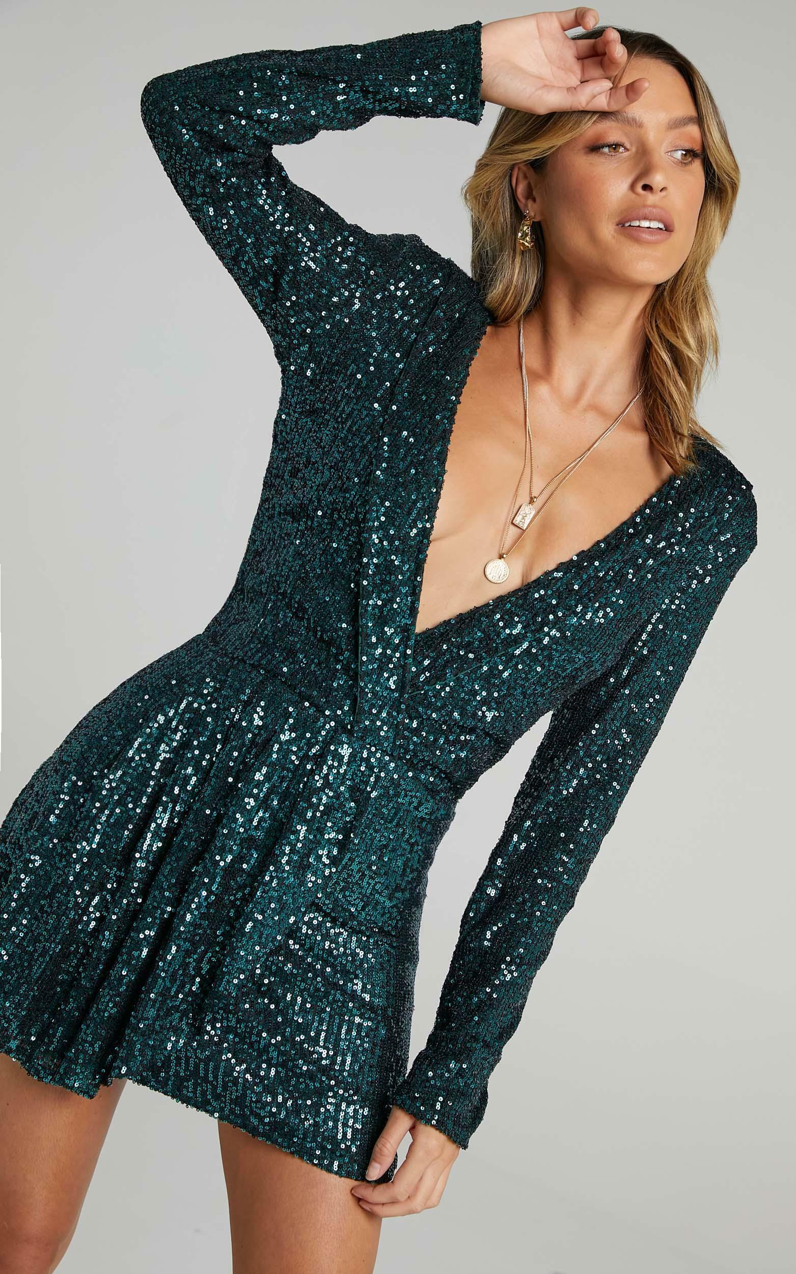 Lioness - Make Your Move Mini Dress in Teal - 6 (XS), Blue, hi-res image number null