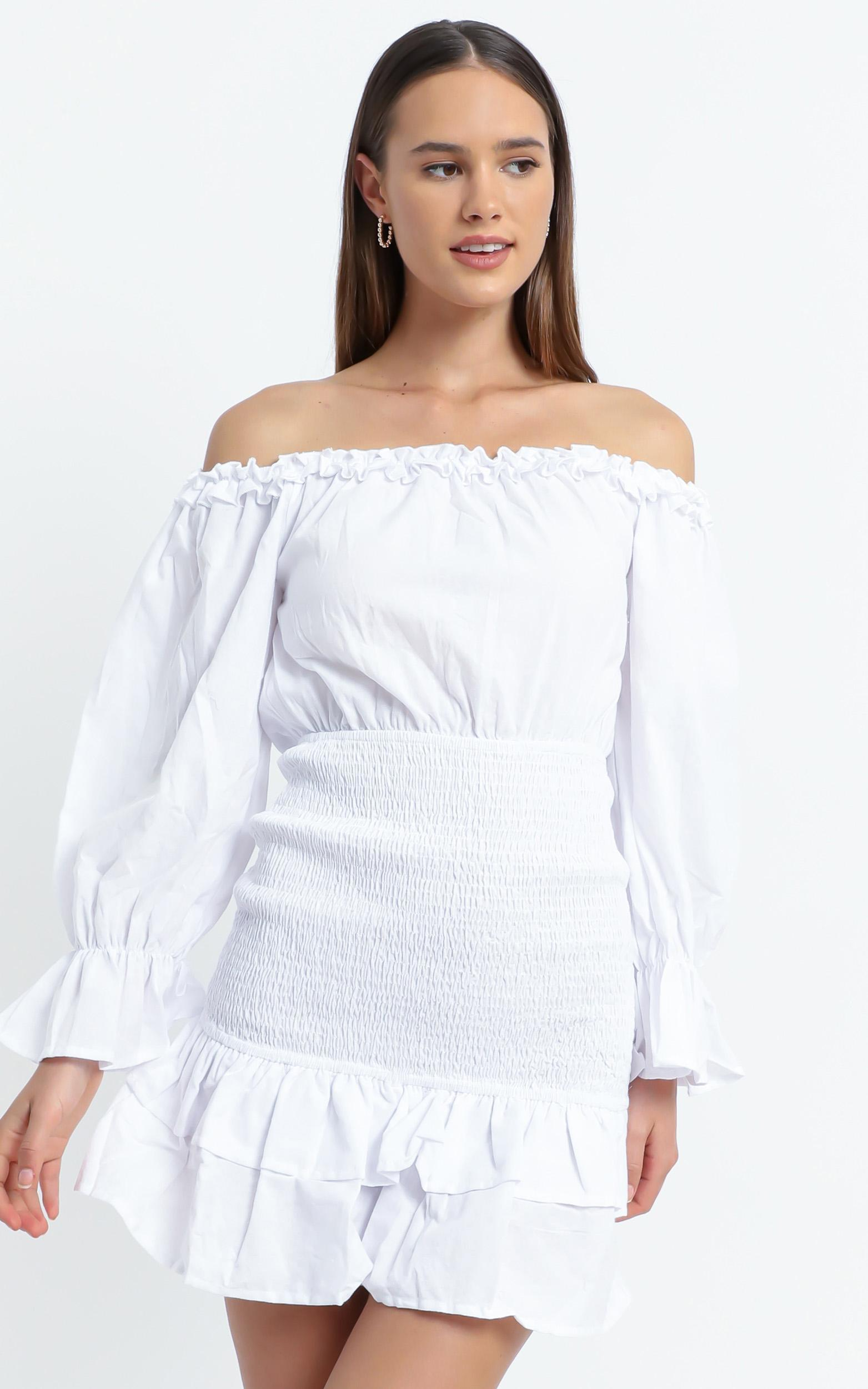 Lizabeth Dress in White - 6 (XS), White, hi-res image number null