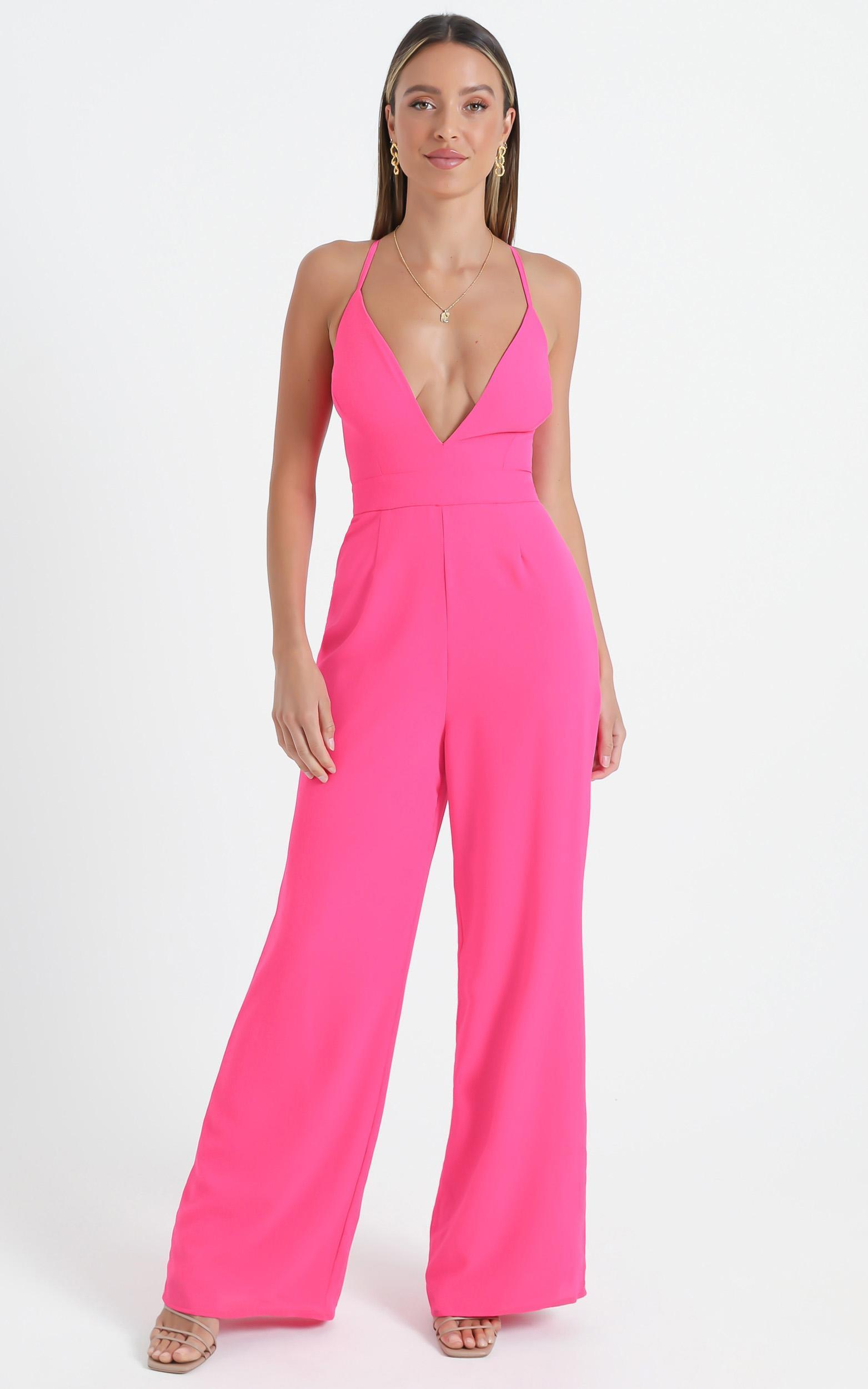 Dream Of Jumpsuit In Hot Pink - 6 (XS), PNK11, hi-res image number null