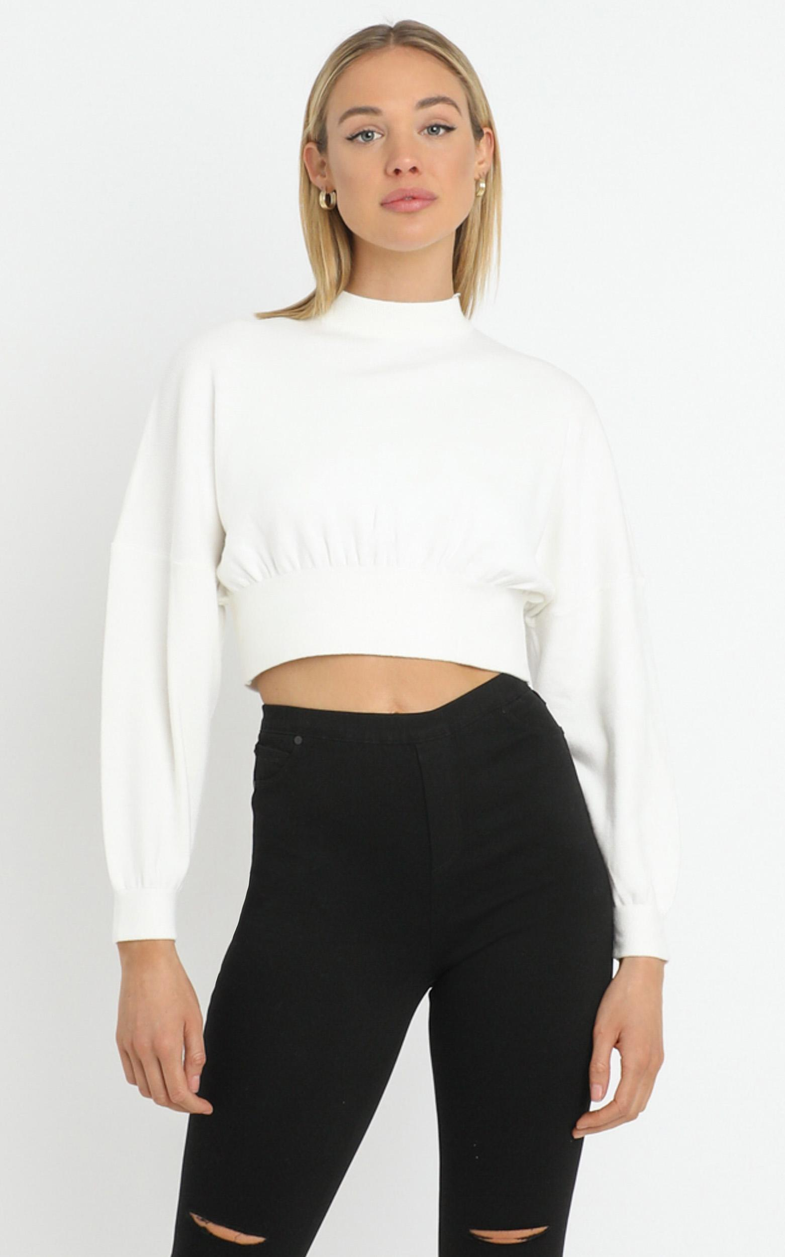 Angelia Sweater in White - M/L, White, hi-res image number null