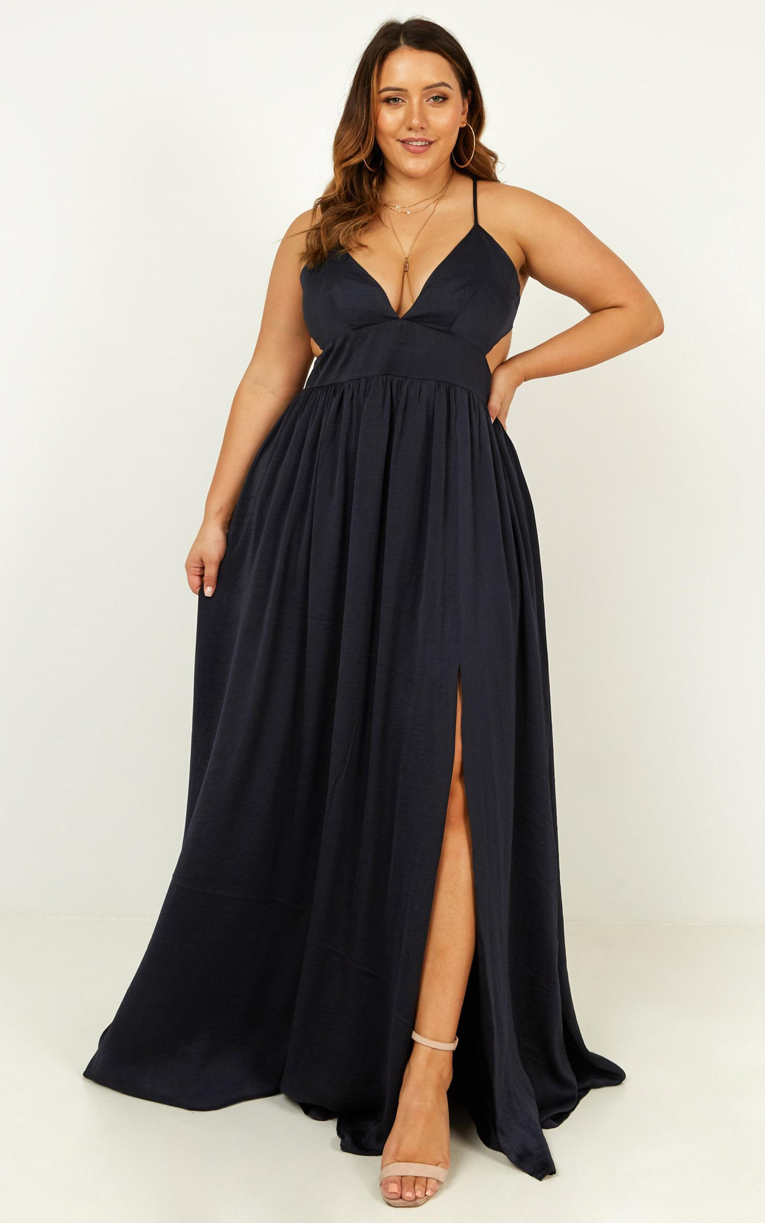 Time to leave dress in navy - 20 (XXXXL), Navy, hi-res image number null