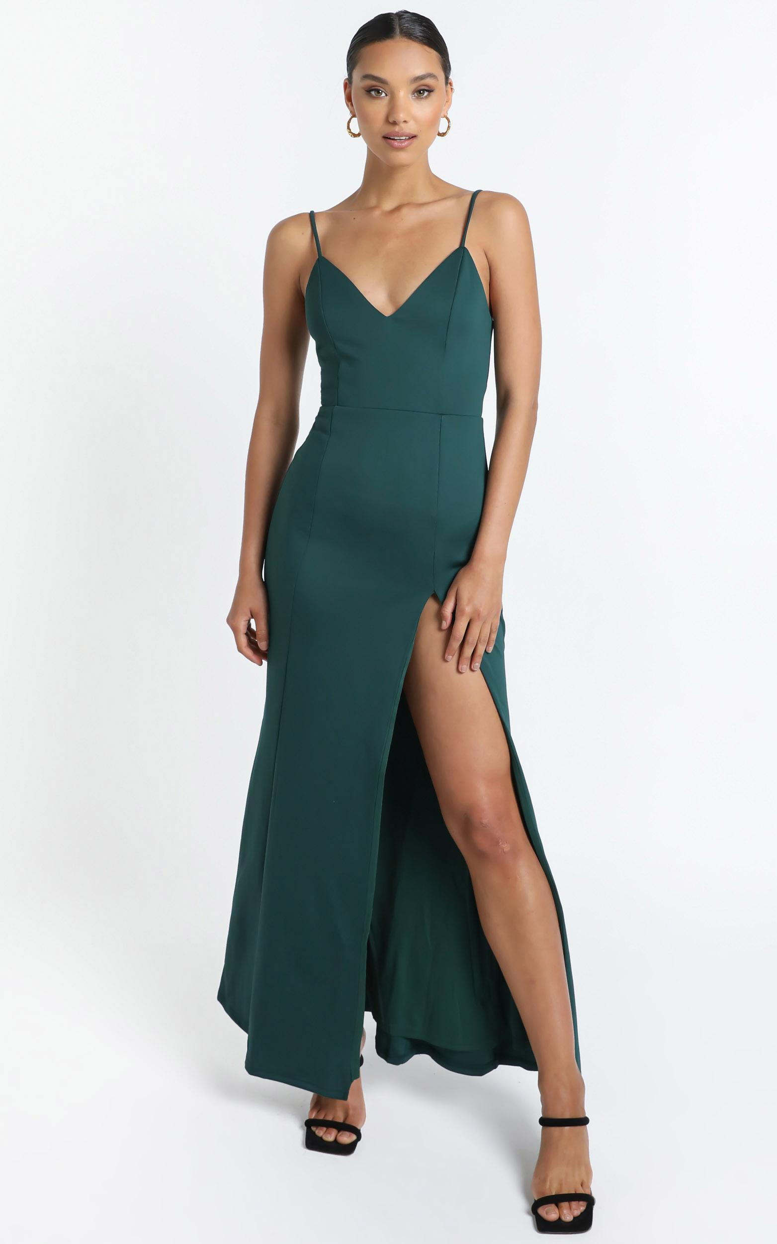 Dare To Dream Maxi Dress in emerald - 20 (XXXXL), Green, hi-res image number null