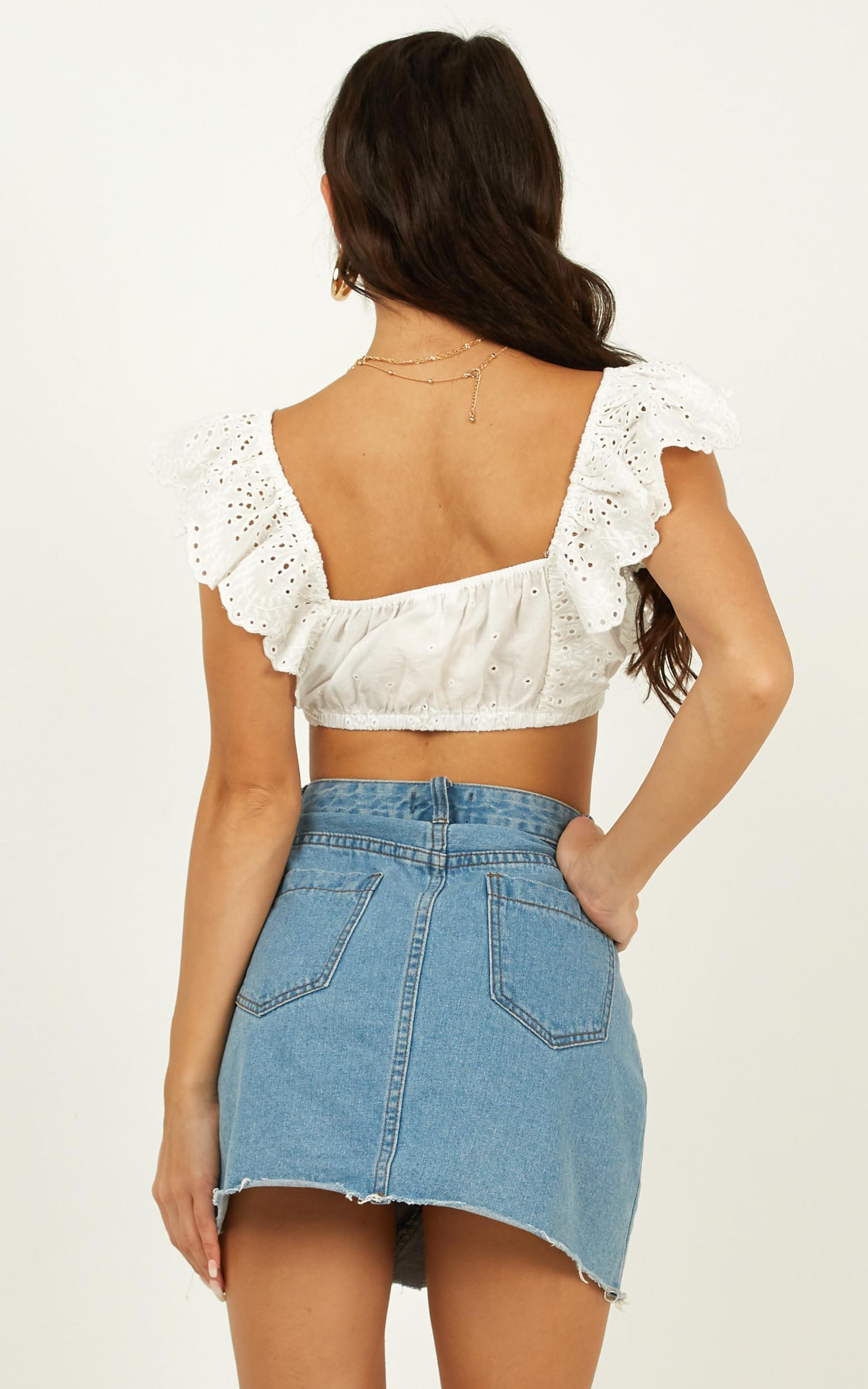 Angel In Disguise top in white embroidery - 12 (L), White, hi-res image number null
