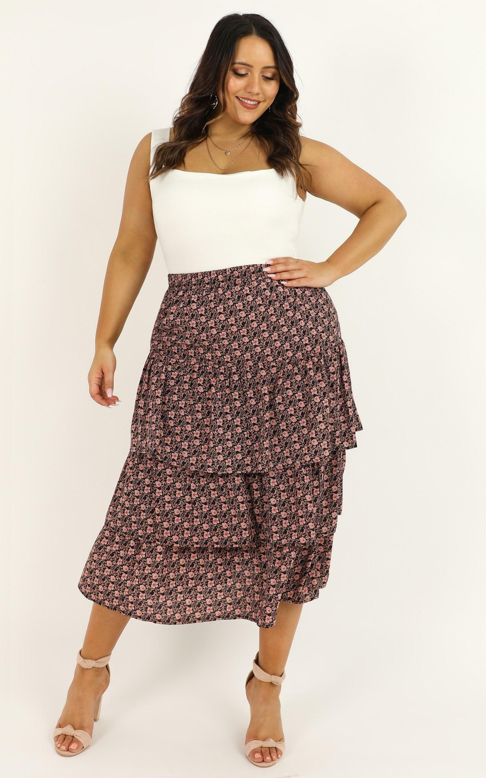 Sweet Salvation skirt in black floral - 12 (L), Black, hi-res image number null