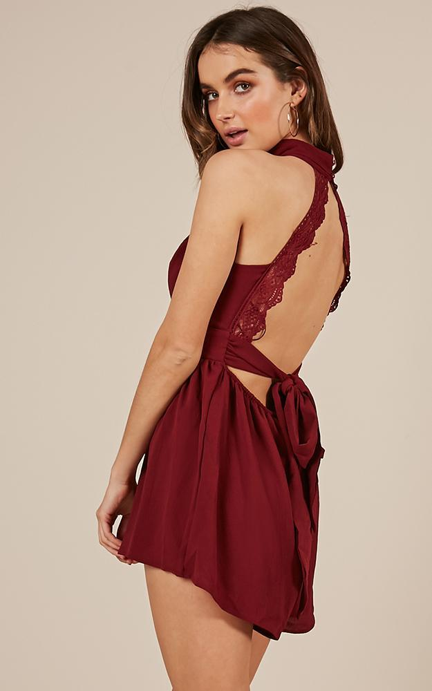 All Over You Playsuit in wine - 12 (L), Wine, hi-res image number null