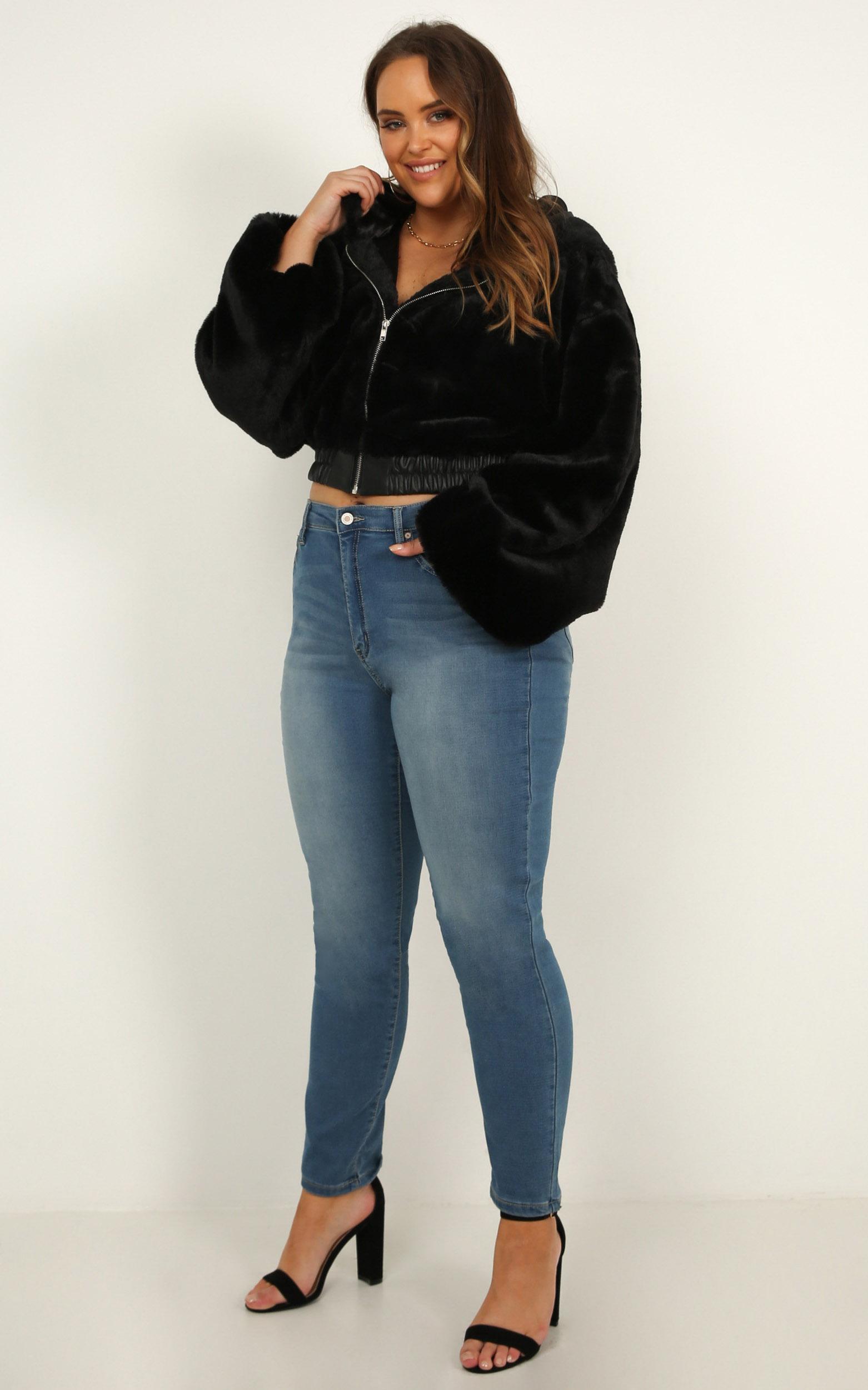 SnowBound Jacket in black faux fur - 14 (XL), Black, hi-res image number null