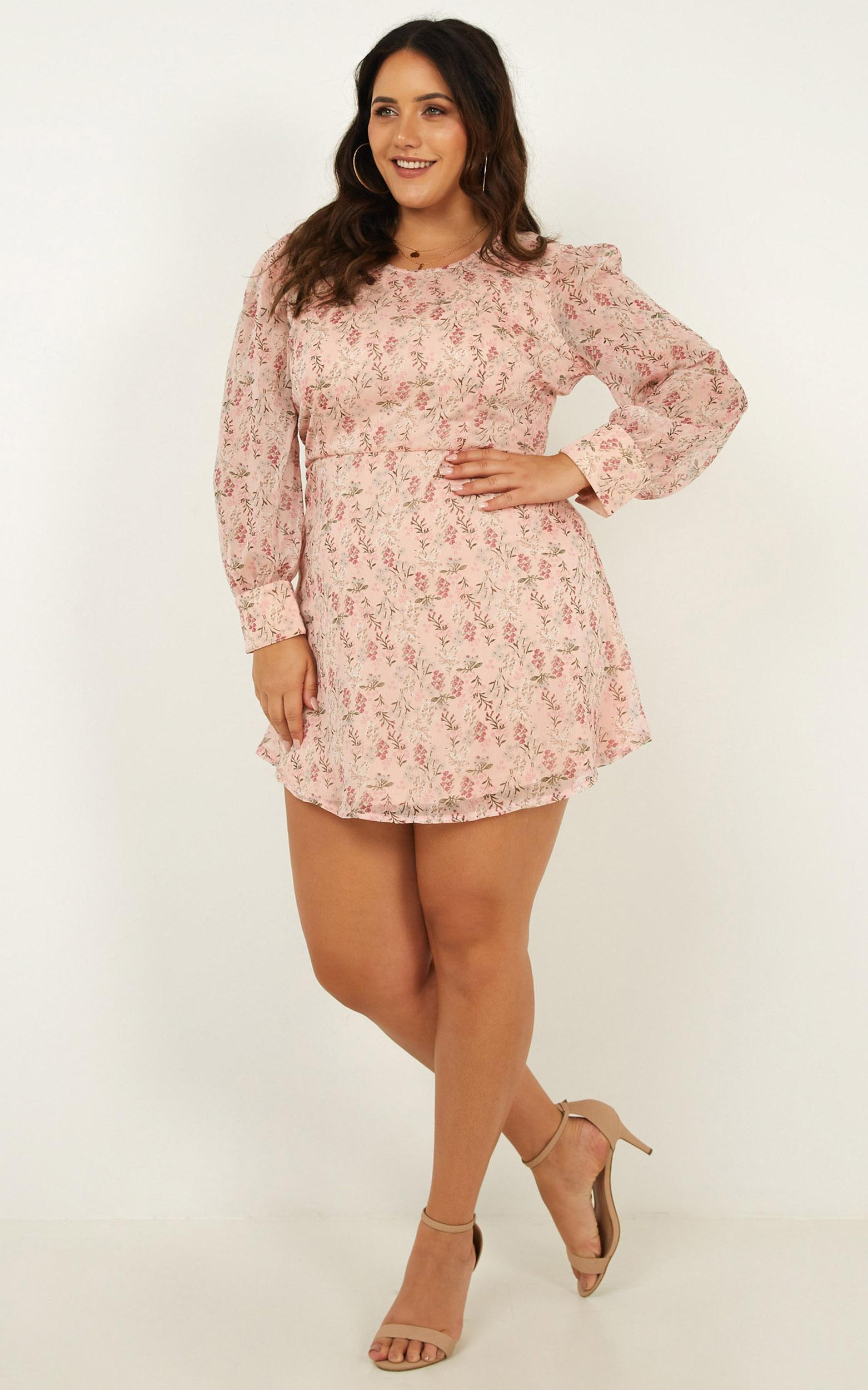 Picnic Days Dress in blush floral - 6 (XS), Blush, hi-res image number null