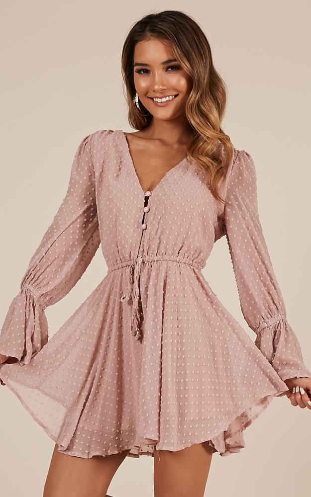 In Your Heart Playsuit In Blush - 14 (XL), Blush, hi-res image number null