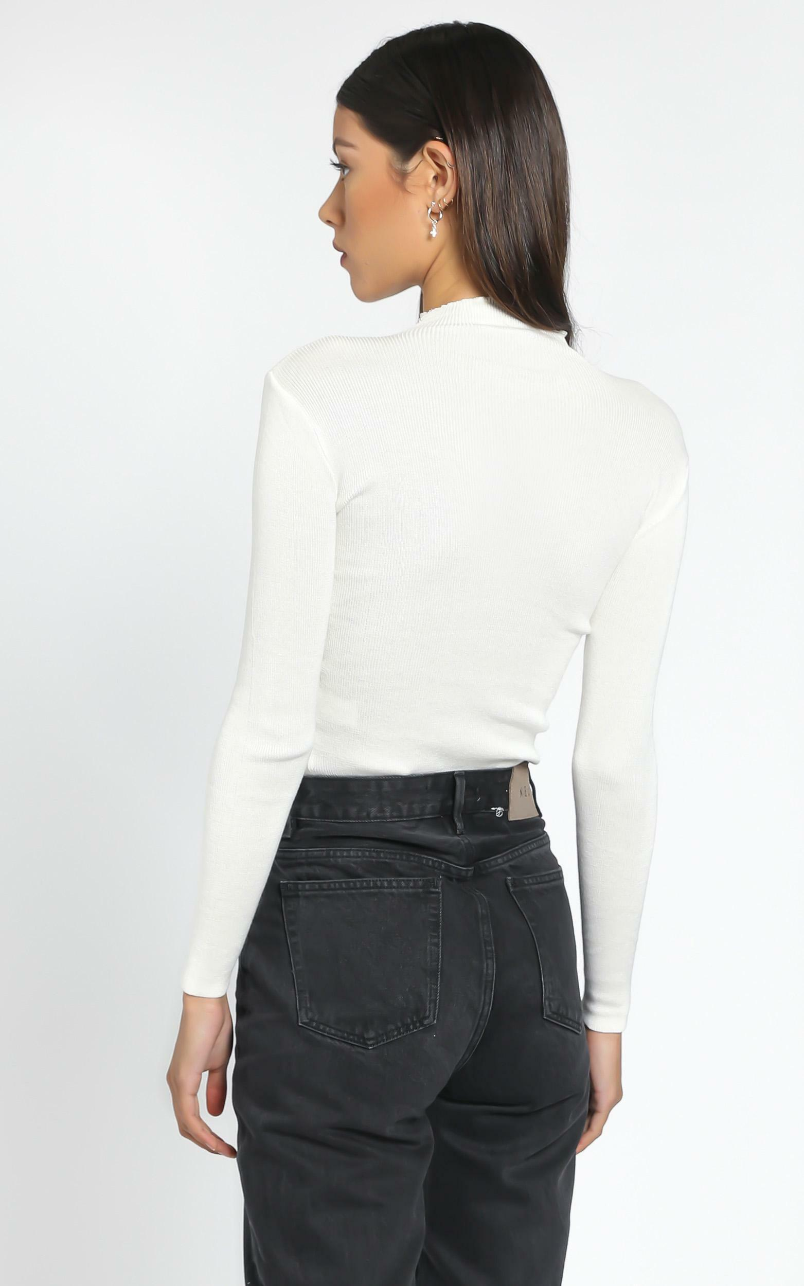 Lust for life knit top in white - 4 (XXS), White, hi-res image number null