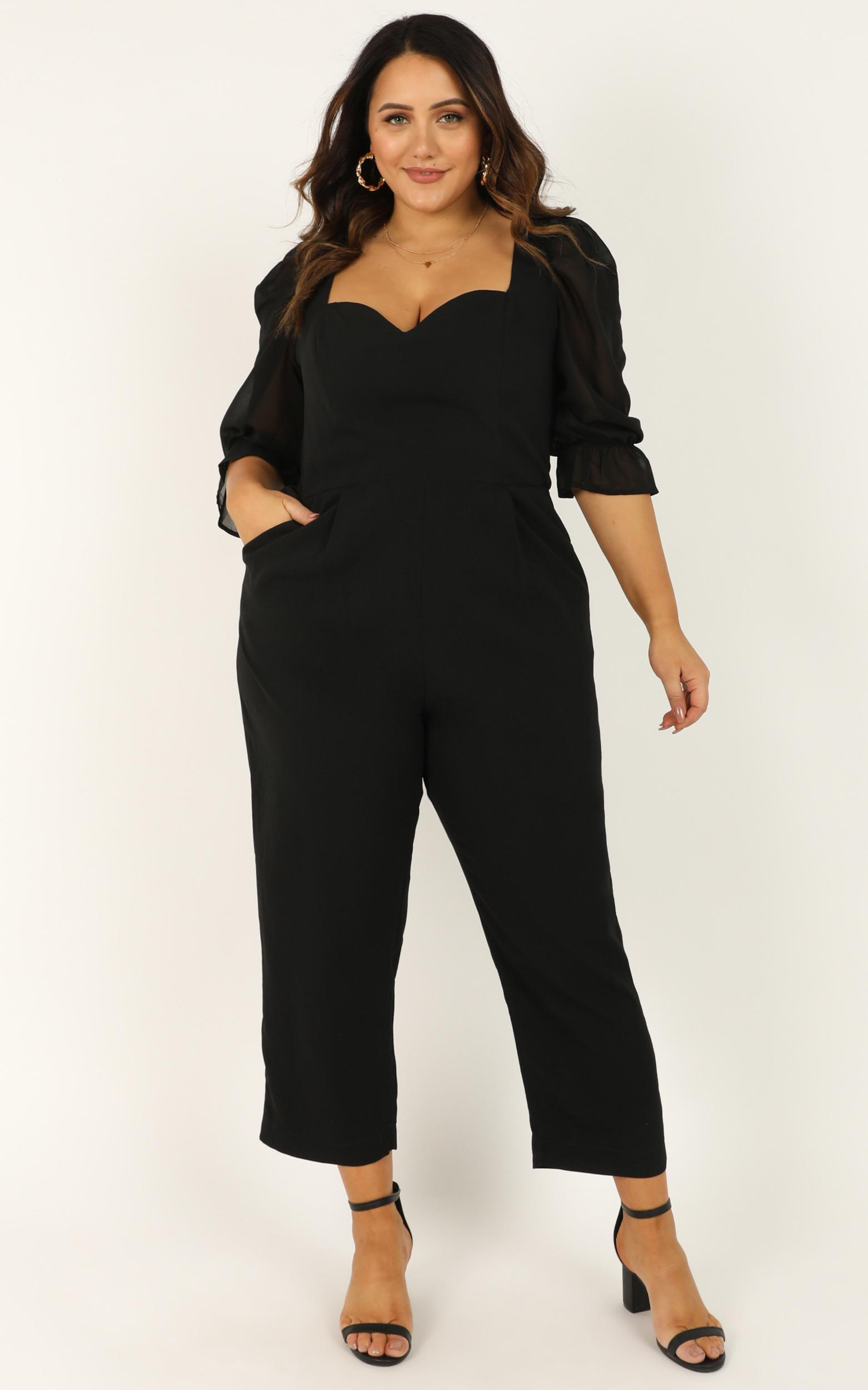 Lets Take a Break Jumpsuit in black - 20 (XXXXL), Black, hi-res image number null