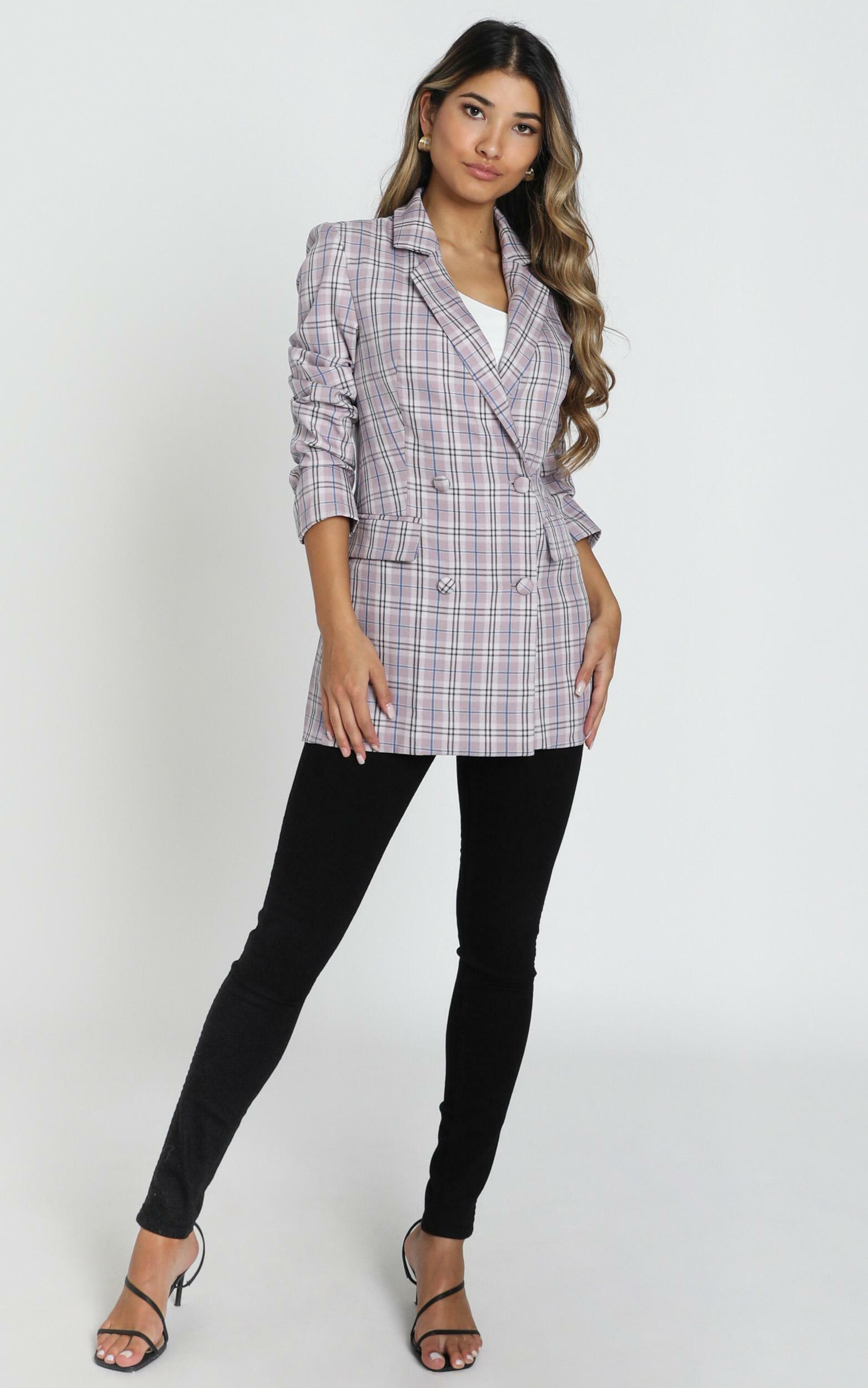 Sort It Out Blazer in Lilac Check - 14, PRP6, hi-res image number null