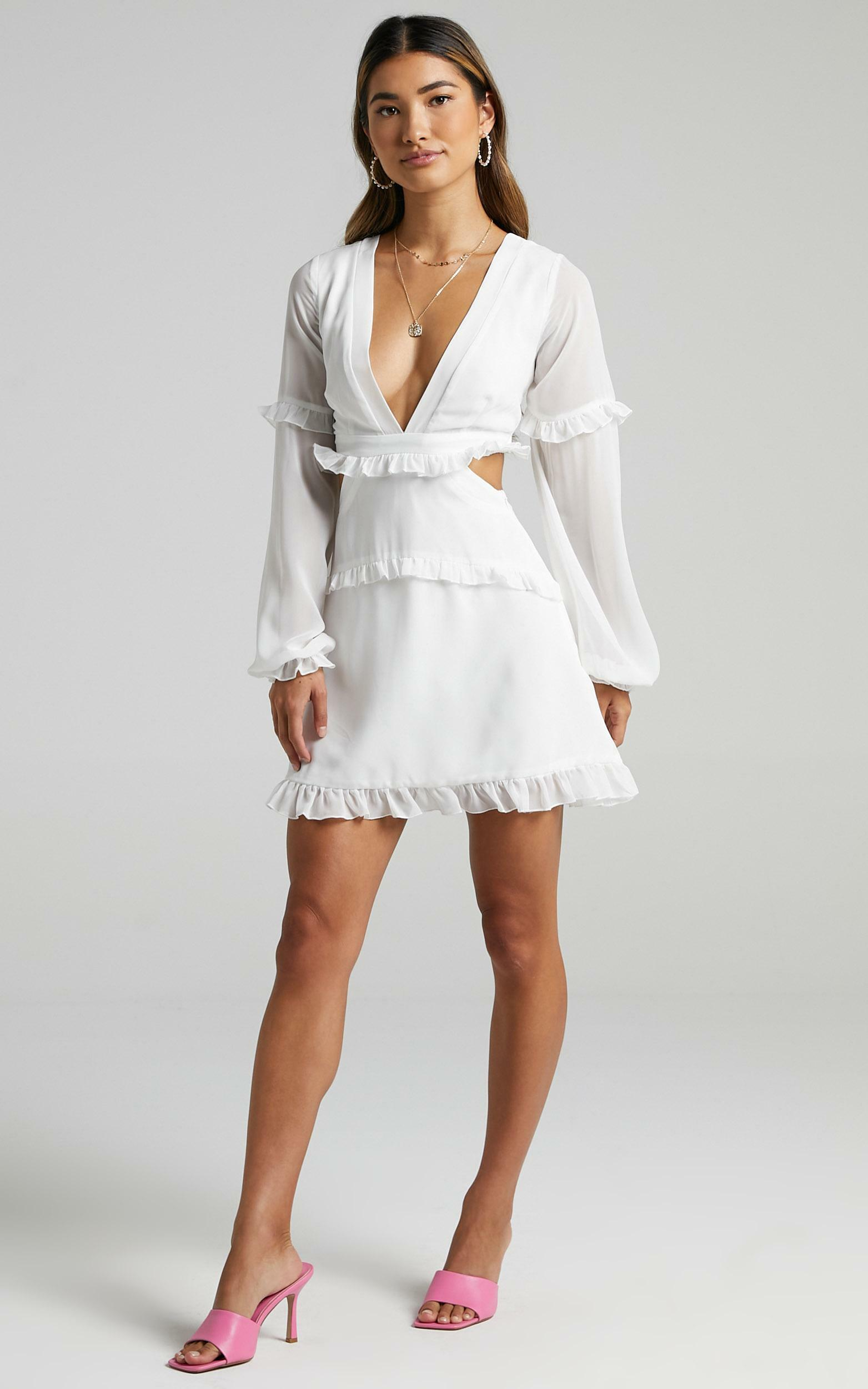 Caipirosca Dress in White - 6 (XS), White, hi-res image number null