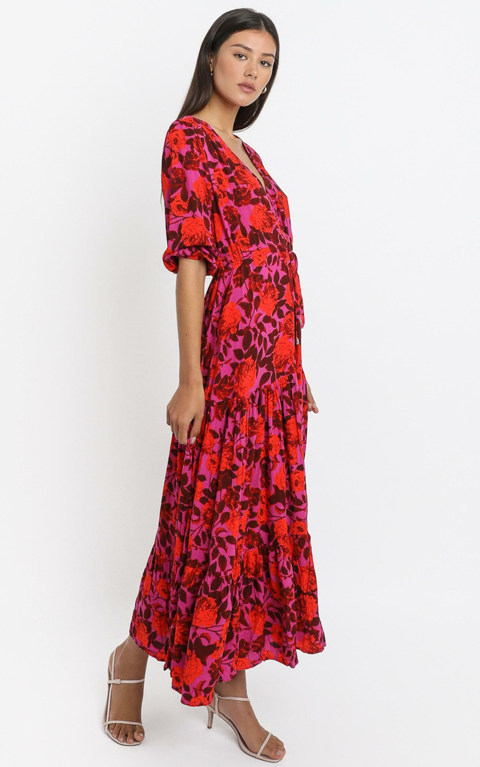 Waiting So Long Dress In Pink Floral - 20 (XXXXL), Pink, hi-res image number null