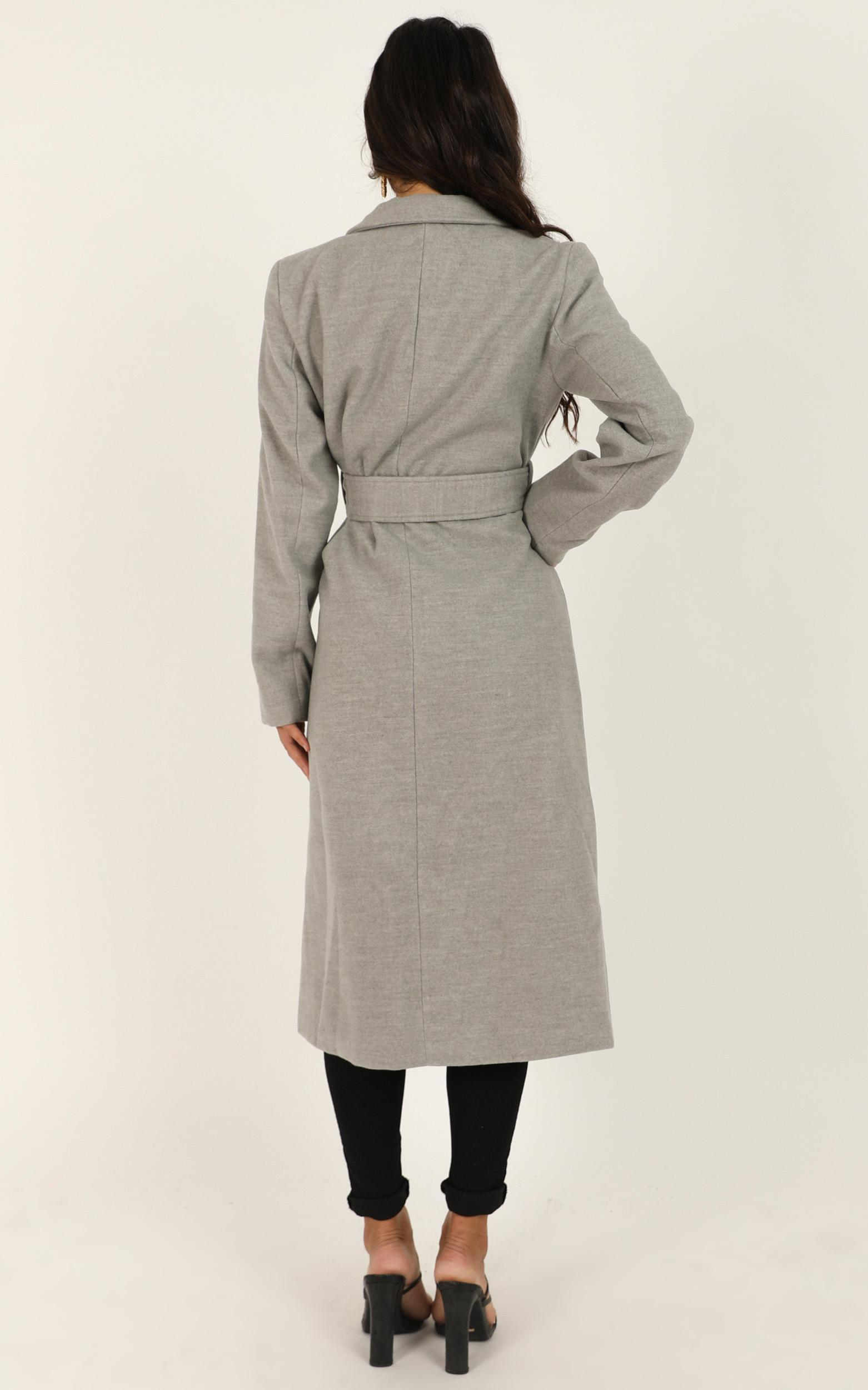 Green with Envy Coat in grey marle - 18 (XXXL), Grey, hi-res image number null
