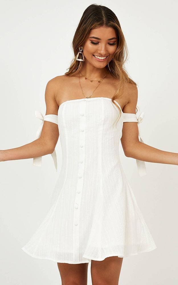 Raining Down Dress in white - 20 (XXXXL), White, hi-res image number null