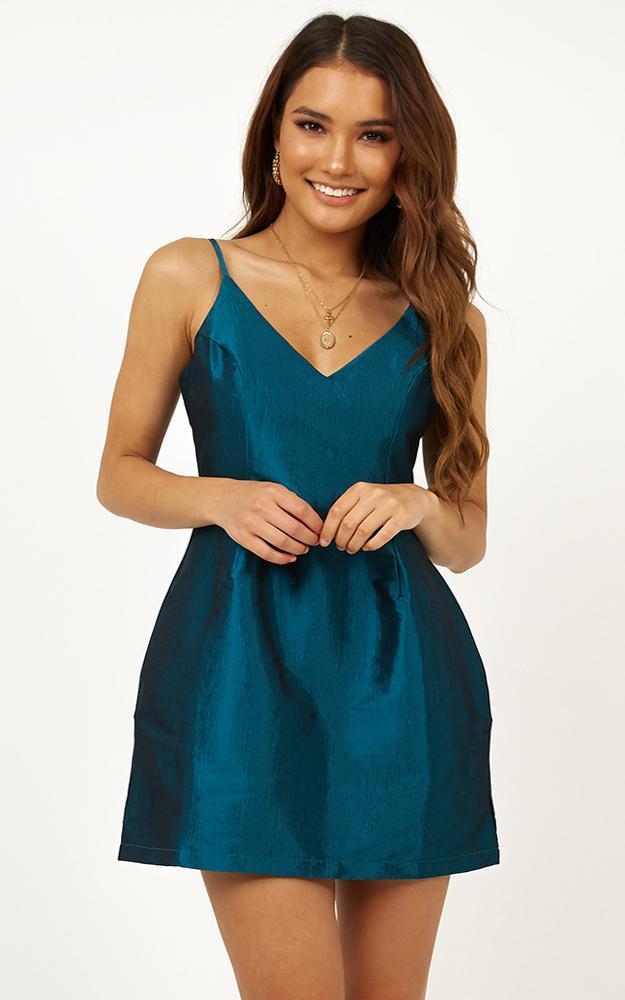 Casino Royal dress in teal - 12 (L), Green, hi-res image number null