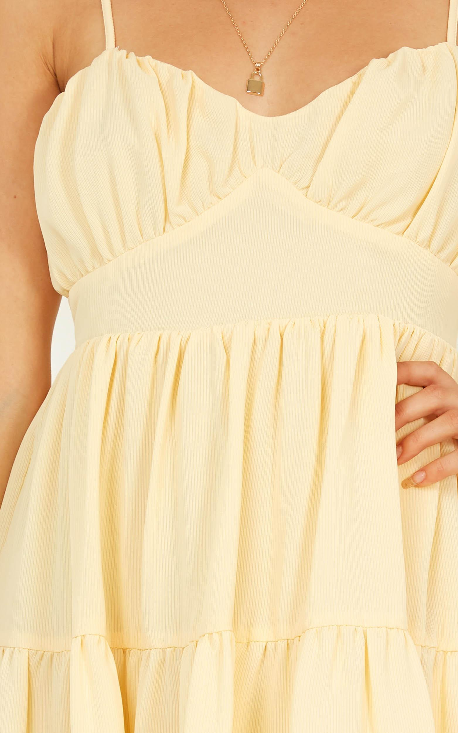 Shouldnt have Dress in yellow - 14 (XL), Yellow, hi-res image number null