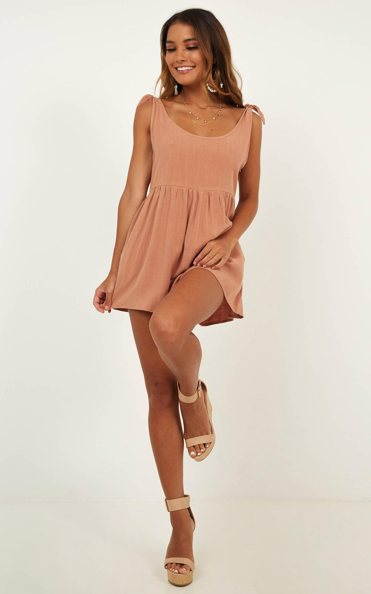 Bring This Down Playsuit In Dusty Rose - 16 (XXL), Rust, hi-res image number null