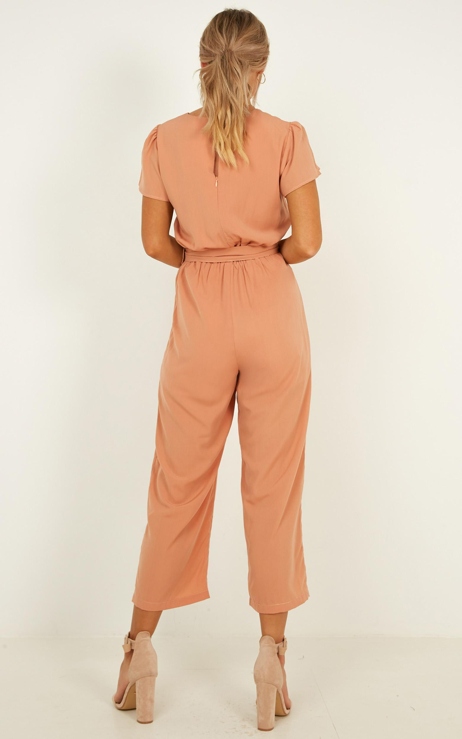 Pave Your Path Jumpsuit in mocha - 20 (XXXXL), Mocha, hi-res image number null