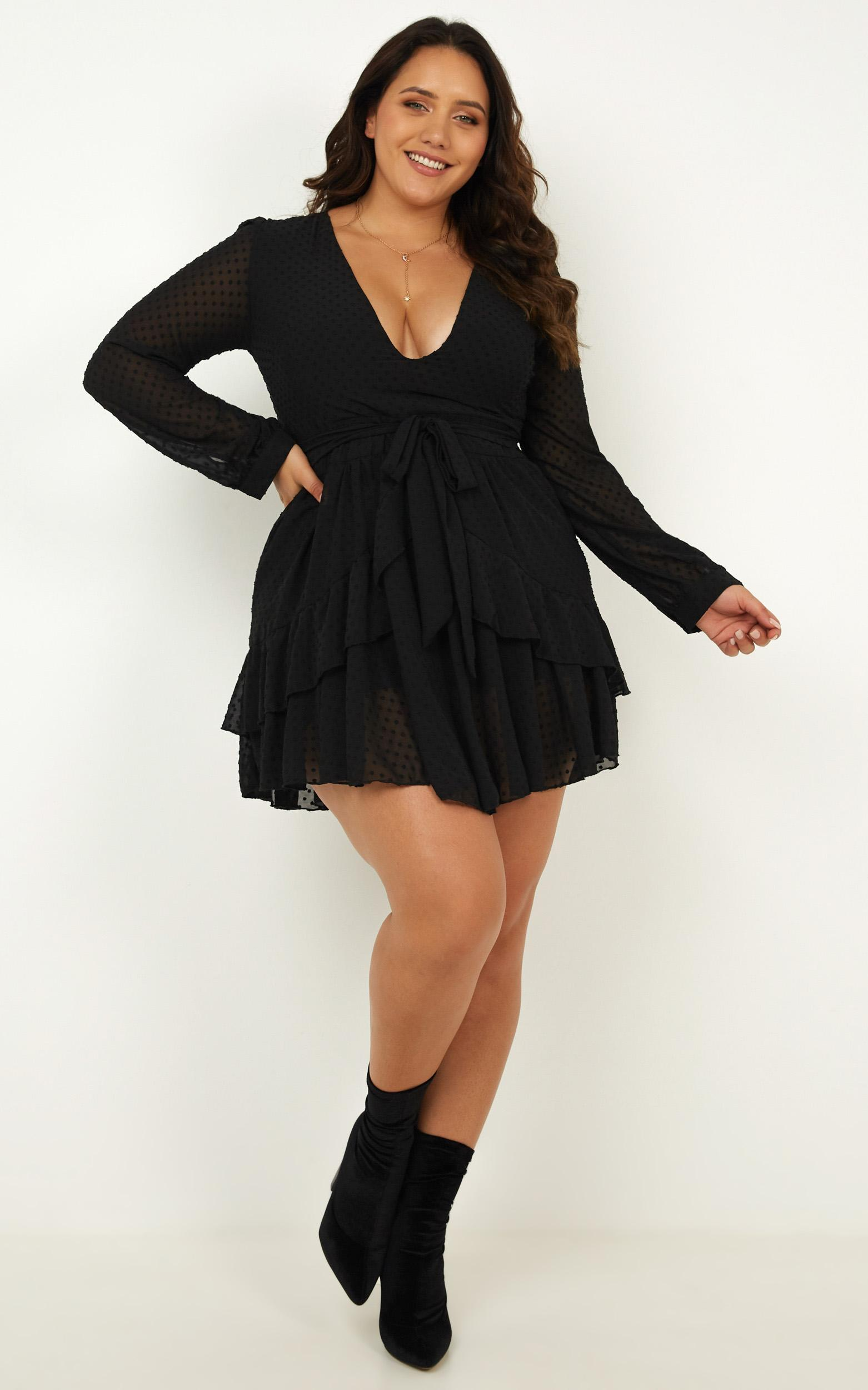 For A Rainy Day dress in black - 4 (XXS), Black, hi-res image number null