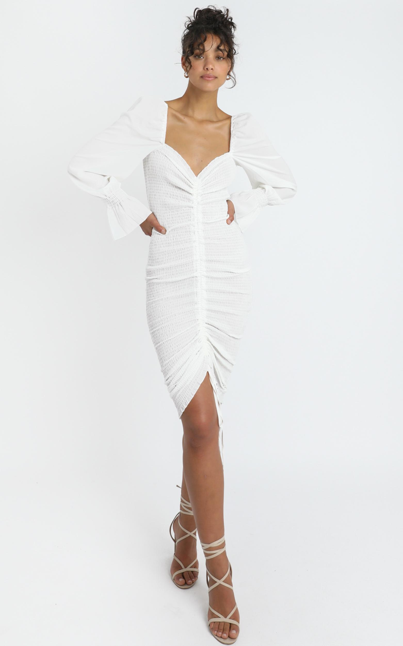 Megan Dress in White - 6 (XS), White, hi-res image number null