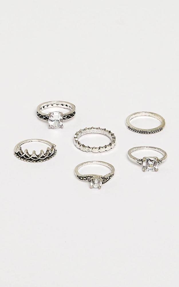 The Perfect Storm Ring Set In Silver, , hi-res image number null