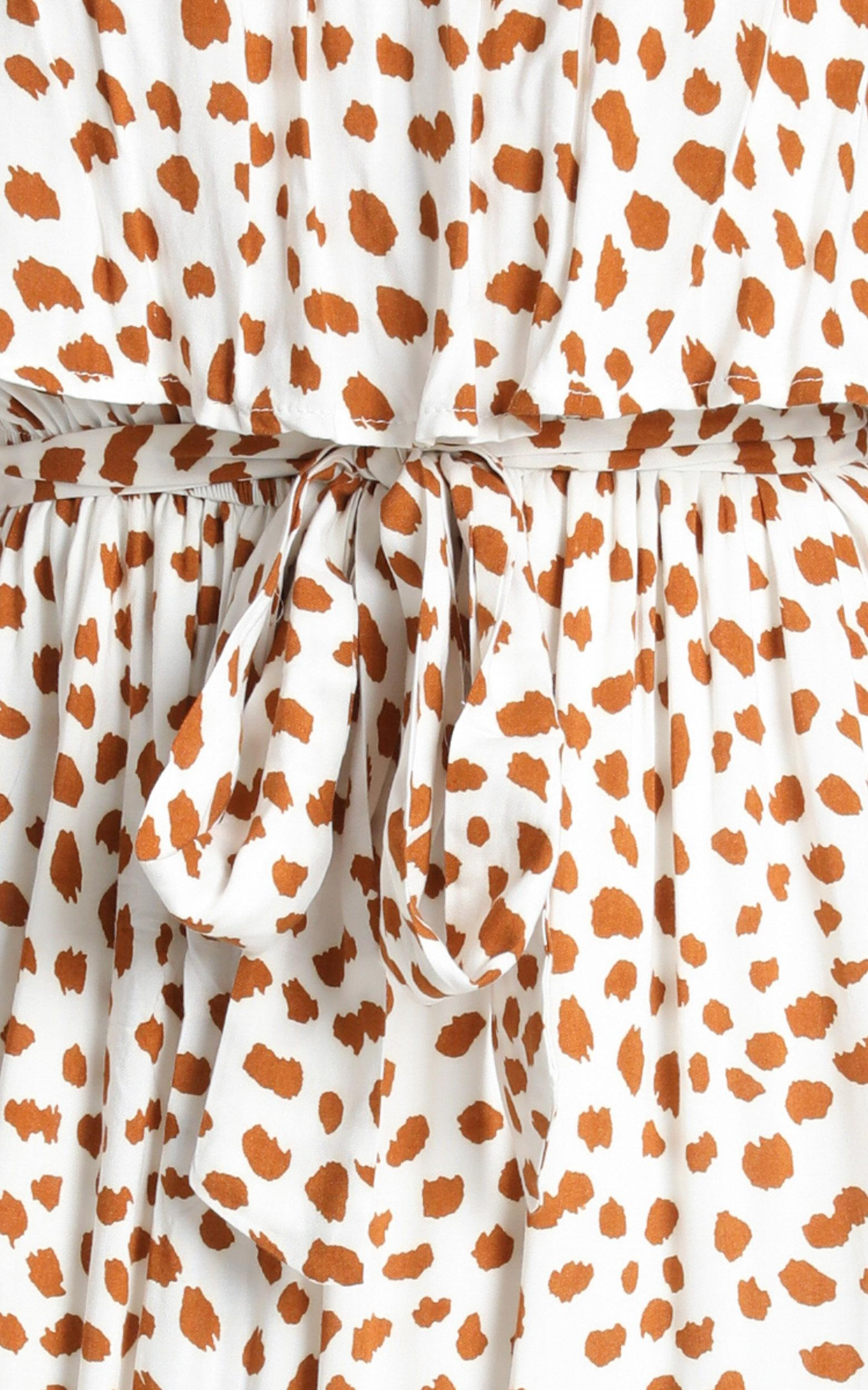 Candice Dress in tan spot - 14 (XL), Tan, hi-res image number null