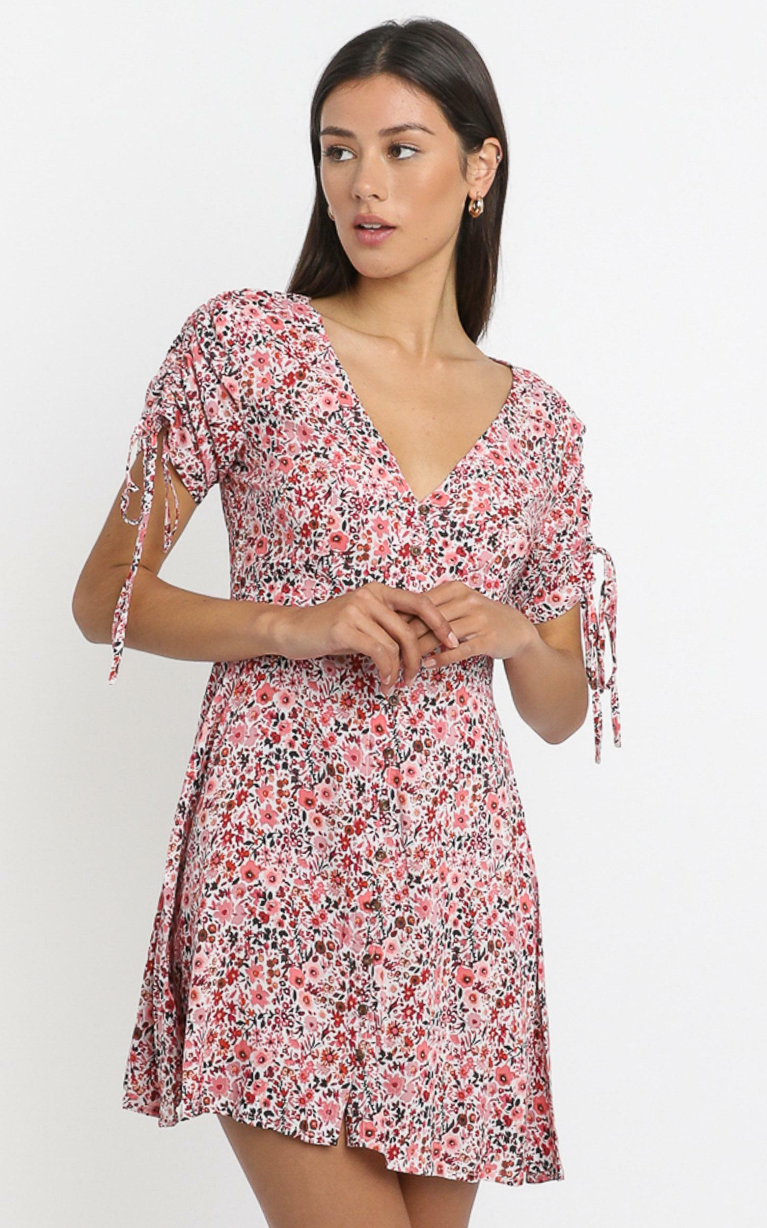 Amira Dress in  Pink Floral - 6 (XS), Pink, hi-res image number null