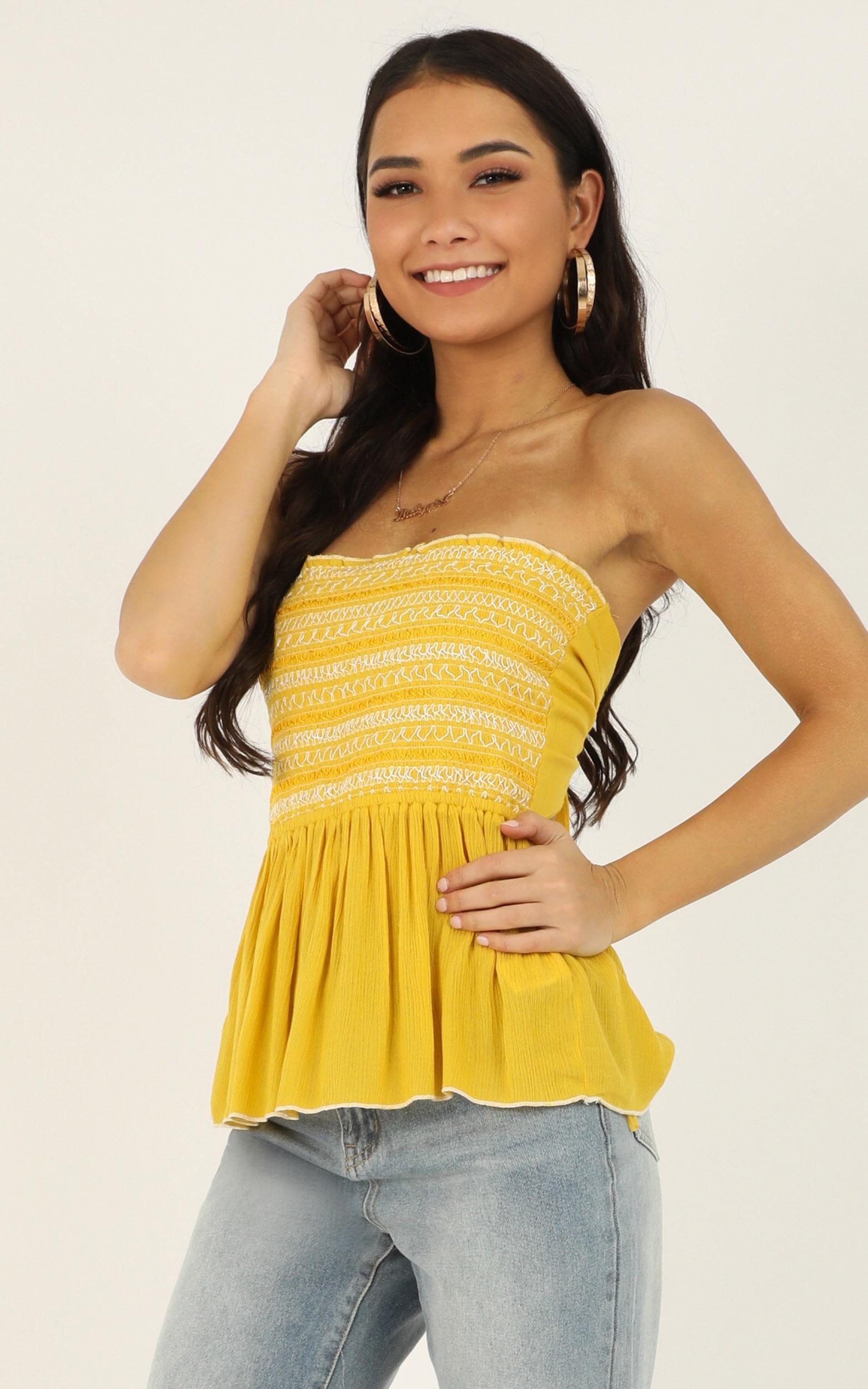 Shades Of Cool top in yellow - 12 (L), Yellow, hi-res image number null