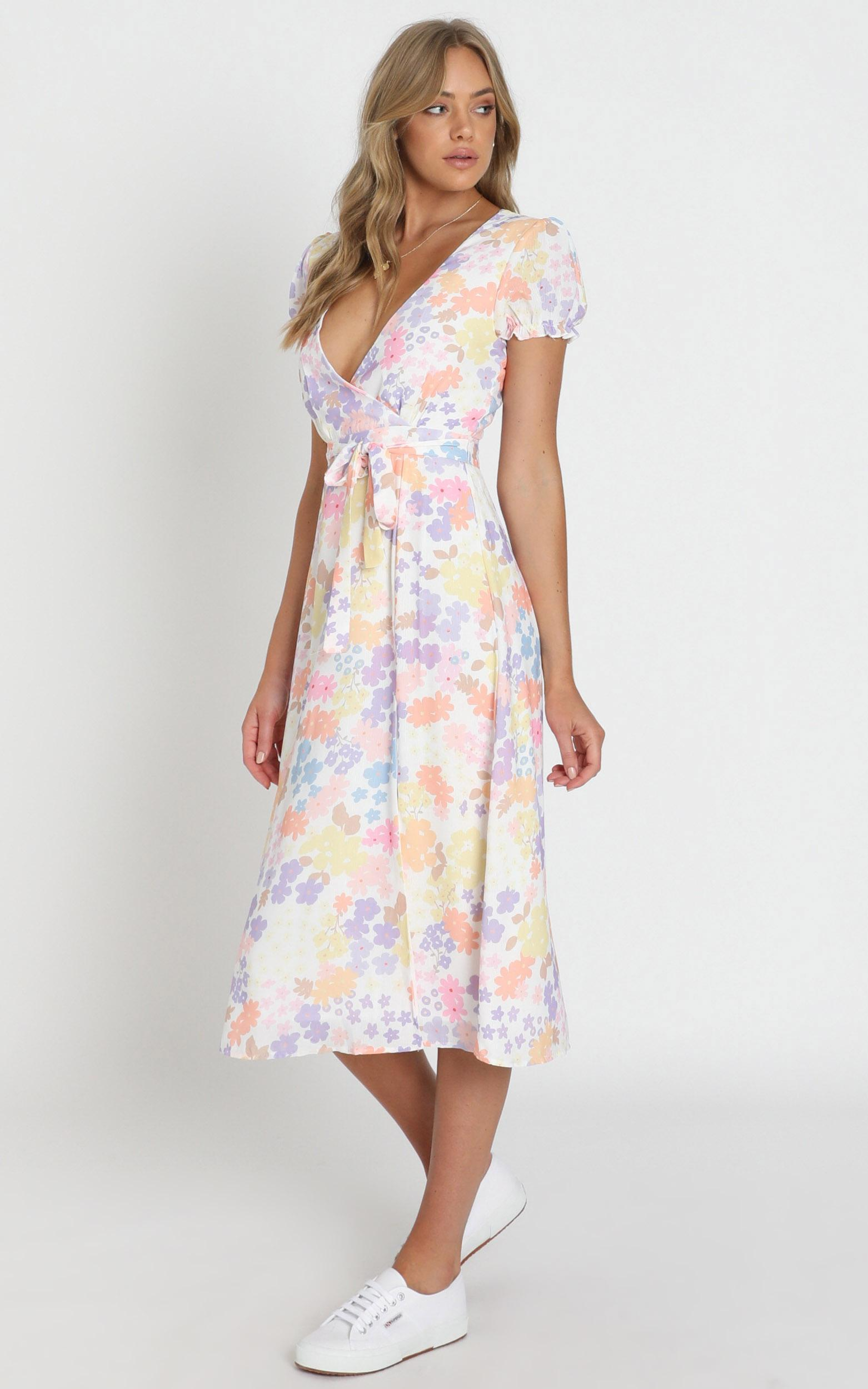 Sudden Life Dress in white floral - 20 (XXXXL), White, hi-res image number null