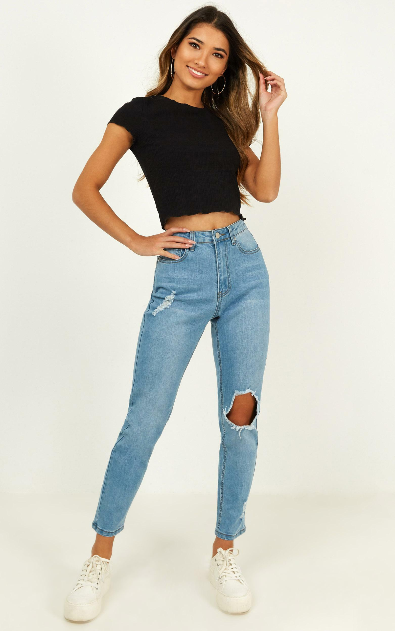 Bobbi Jeans in blue wash denim - 14 (XL), Blue, hi-res image number null
