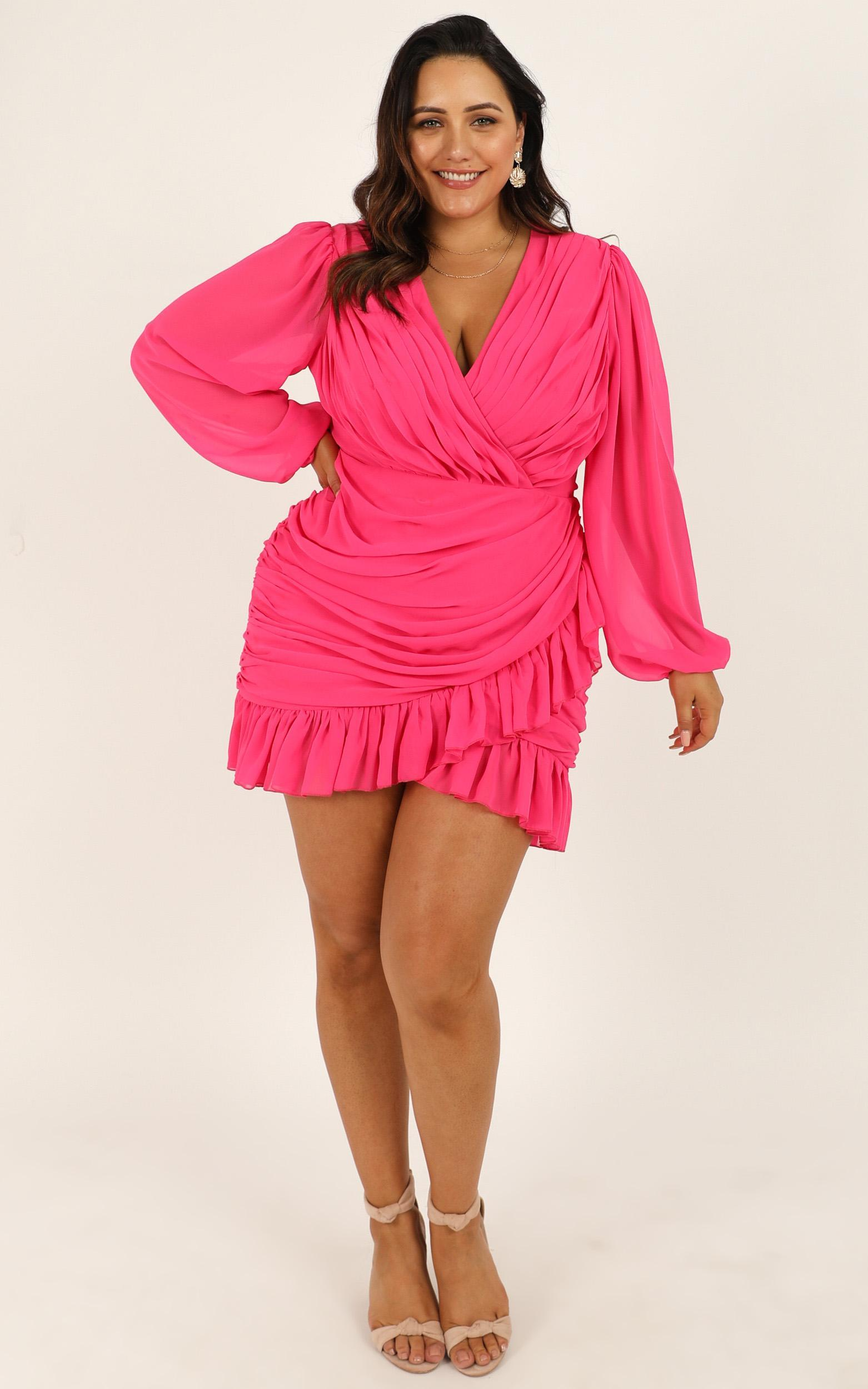 Can I Be Your Honey Dress in hot pink - 20 (XXXXL), Pink, hi-res image number null