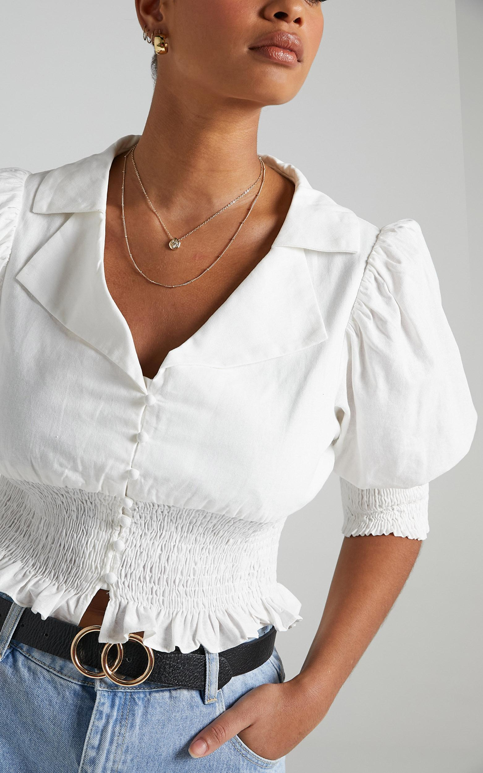 Nerio Top in White - 6 (XS), White, hi-res image number null