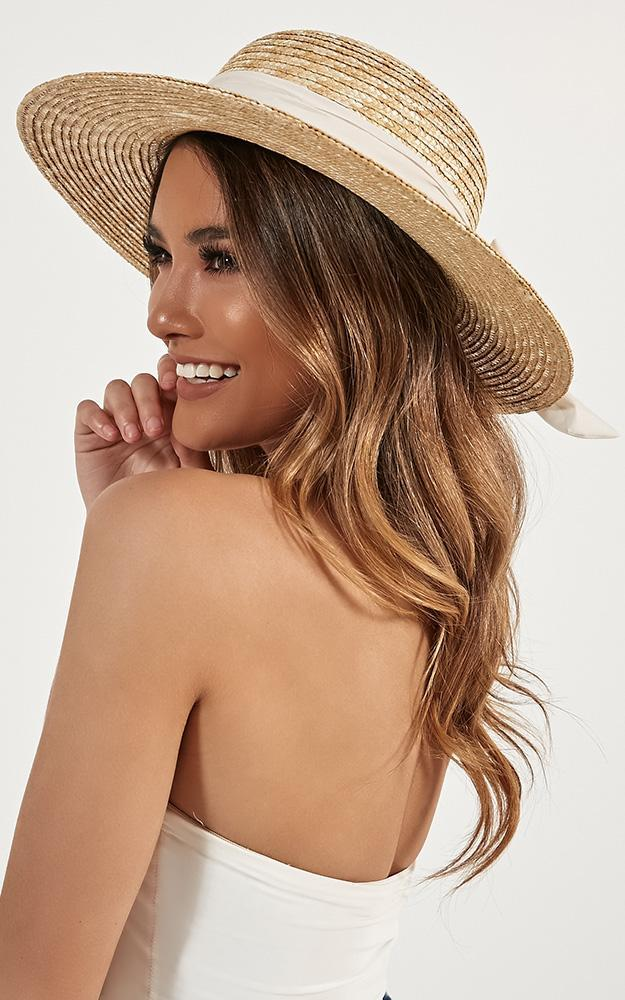 Sail Away Hat In Cream And Natural, Cream, hi-res image number null