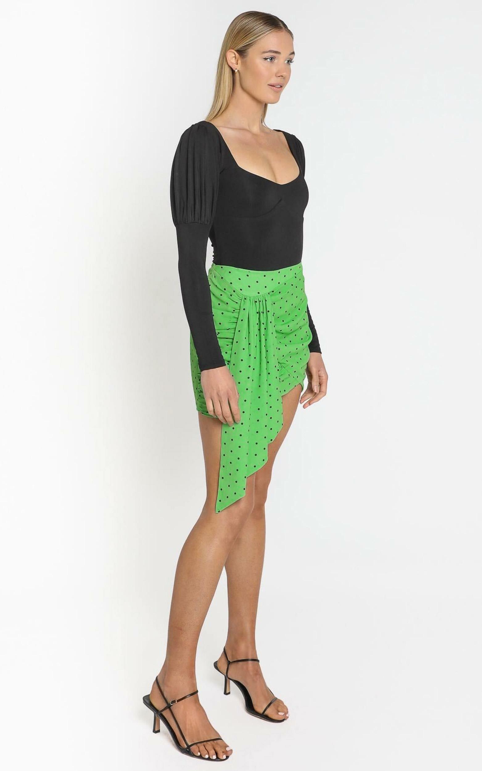 Bianca Mini Skirt in green polka - 4 (XXS), Purple, hi-res image number null