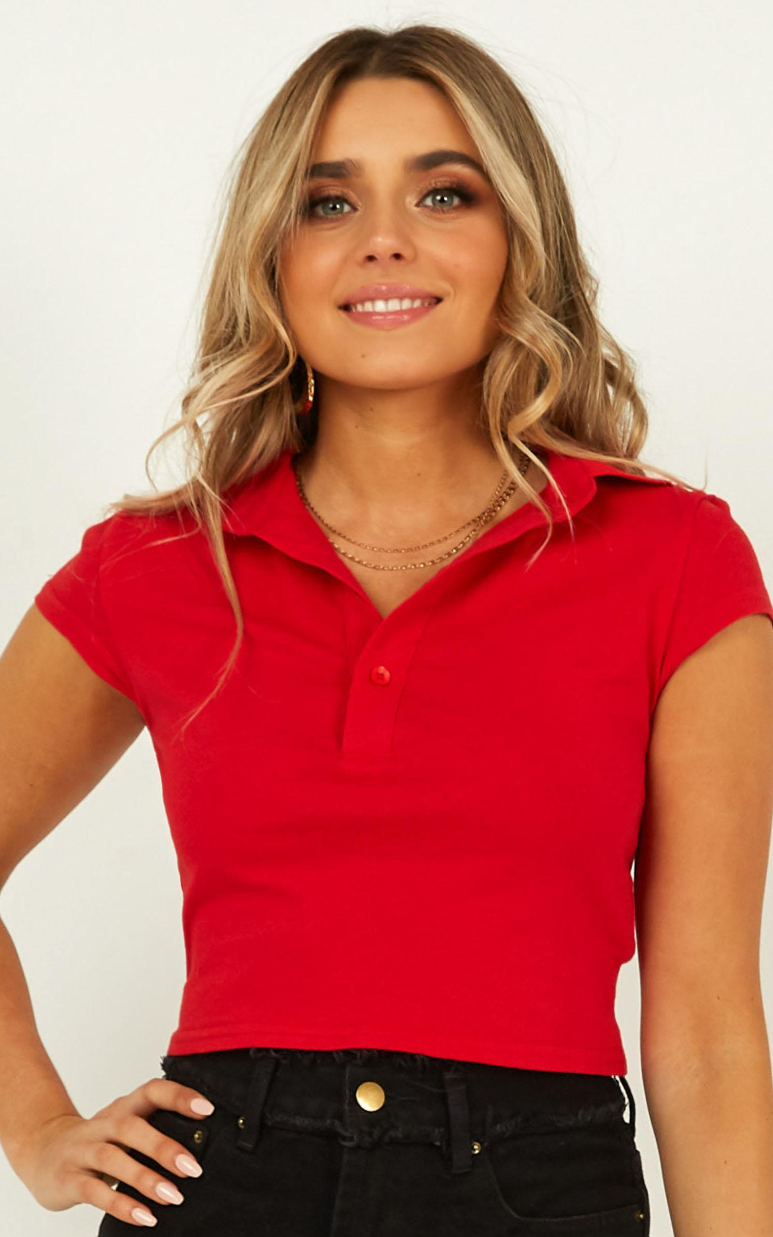 Just Like Me Top in red - 20 (XXXXL), Red, hi-res image number null
