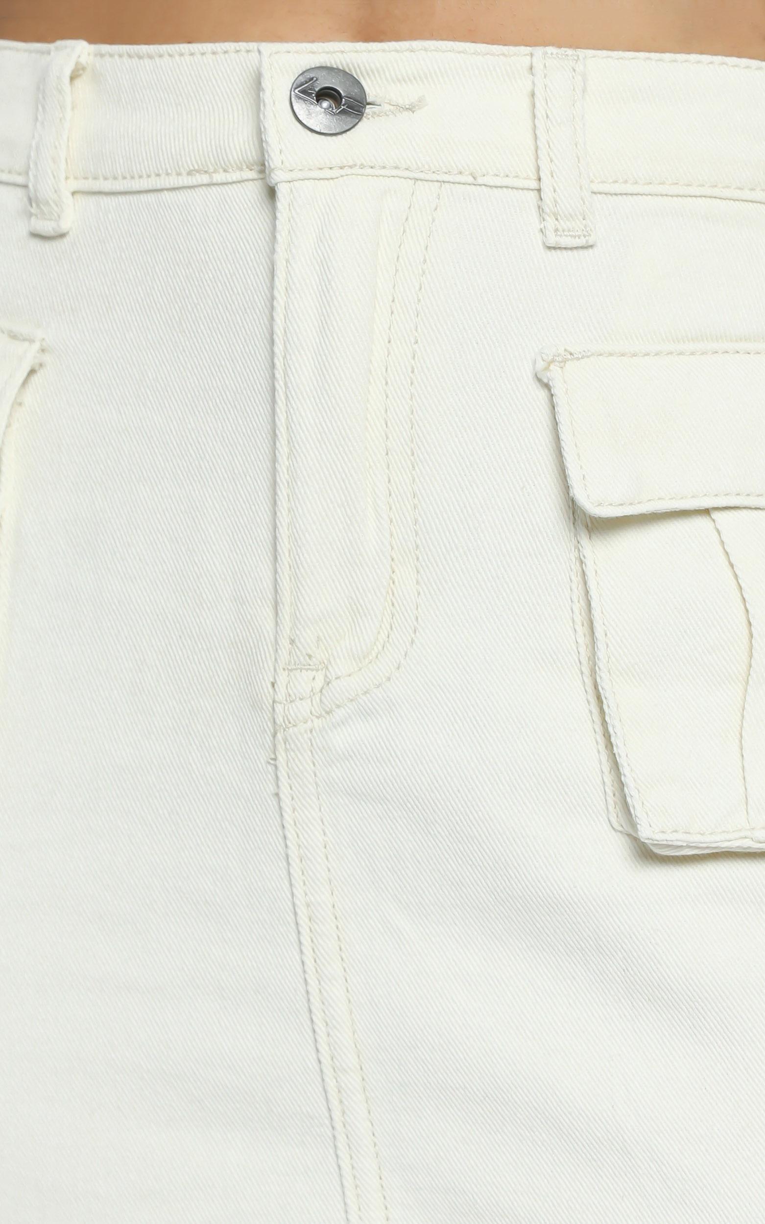 Mendez Skirt in Ecru - 6 (XS), Cream, hi-res image number null