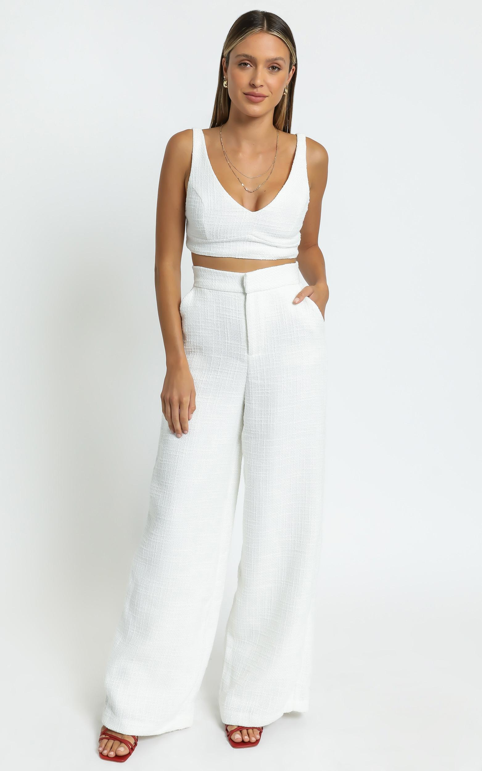 Adelaide Two Piece Set in White - 6 (XS), White, hi-res image number null
