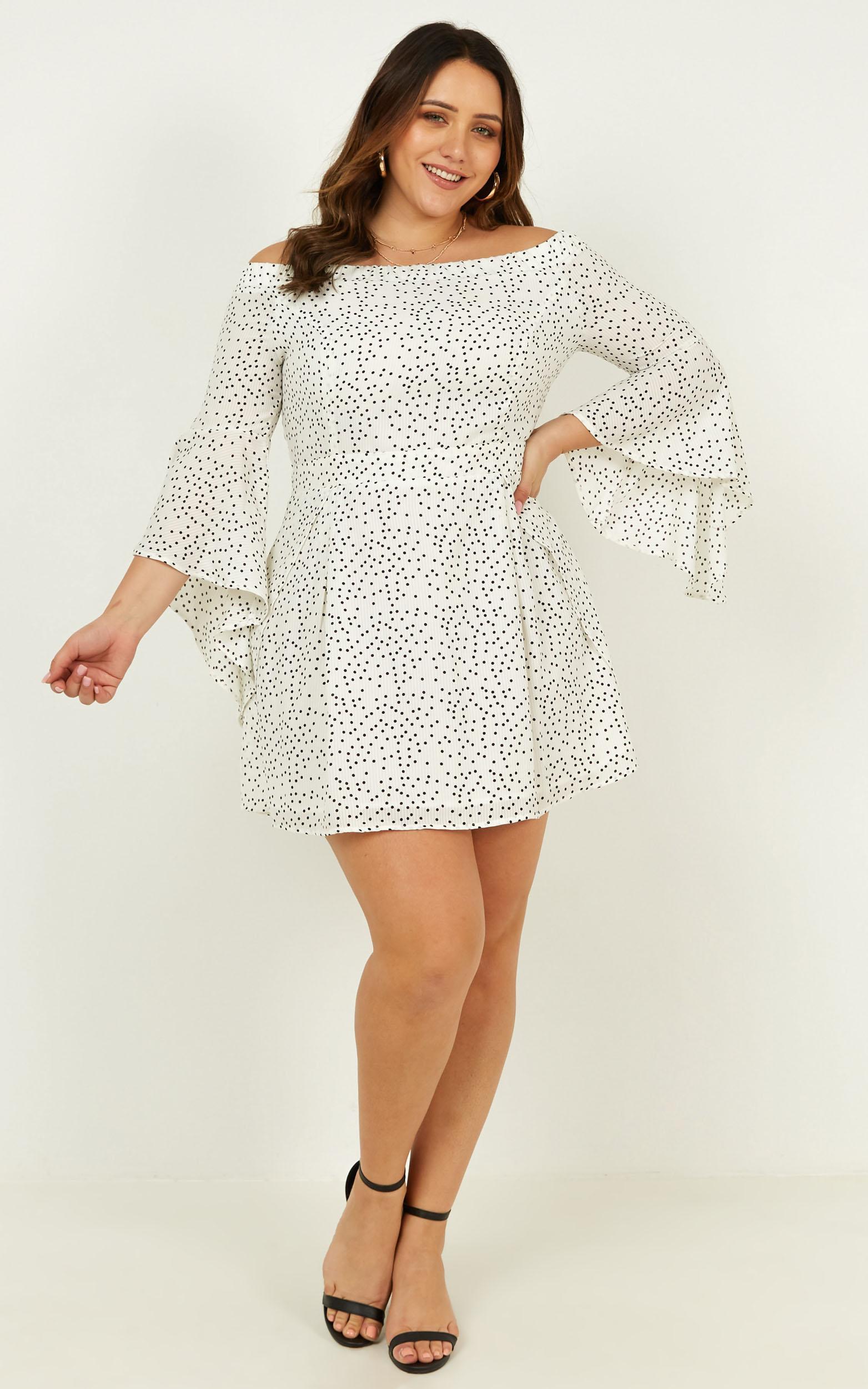 Break my Heart Dress in white spot - 20 (XXXXL), WHT1, hi-res image number null