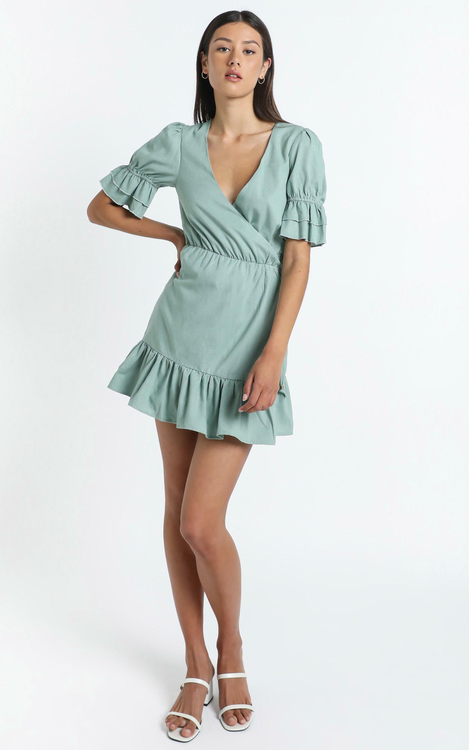 Jayella Dress in Sage - 14 (XL), Sage, hi-res image number null