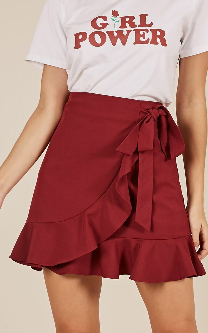Over And Under Skirt in Wine - 04, WNE12, hi-res image number null