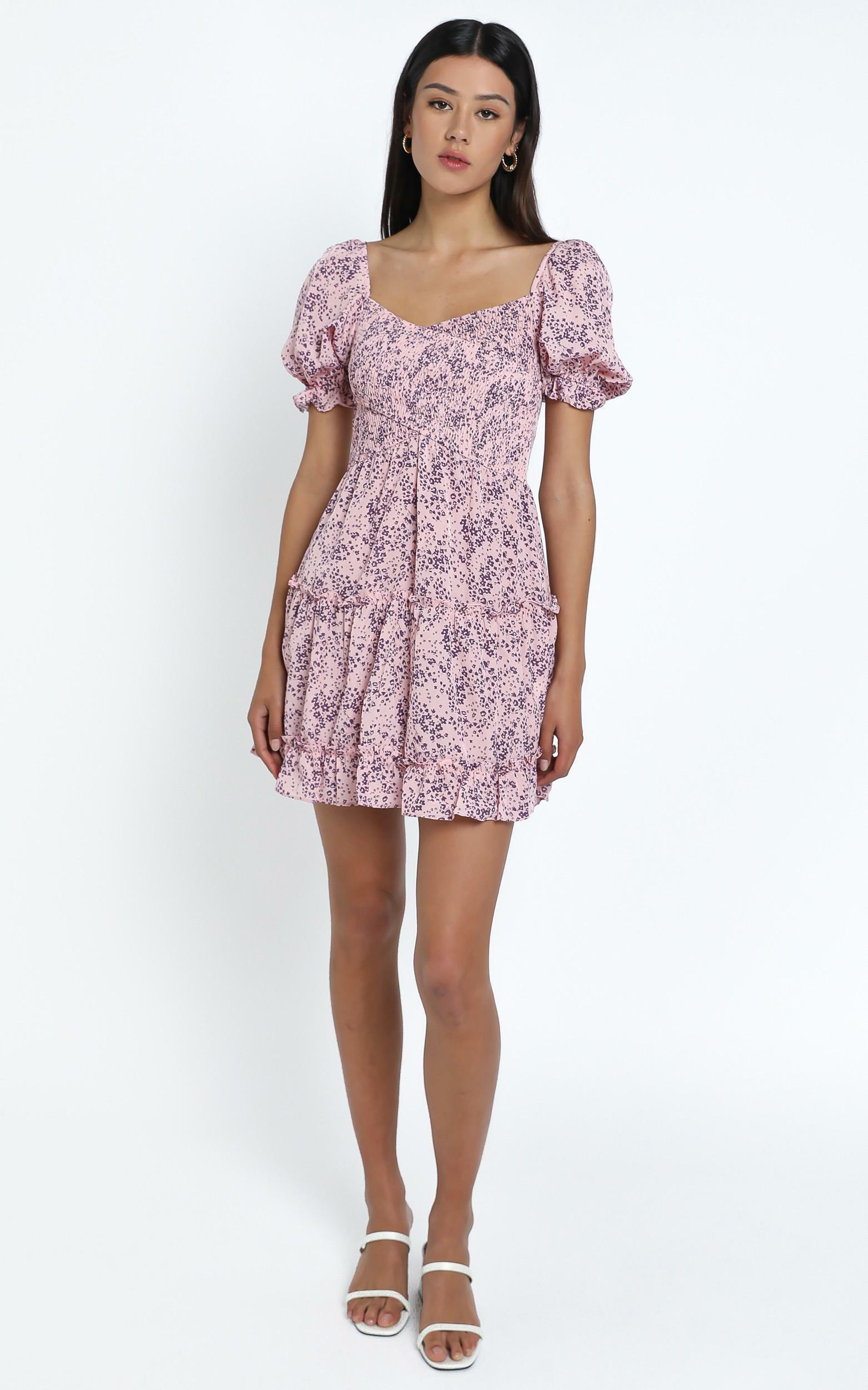Drew Dress in Pink Floral - 12 (L), Pink, hi-res image number null