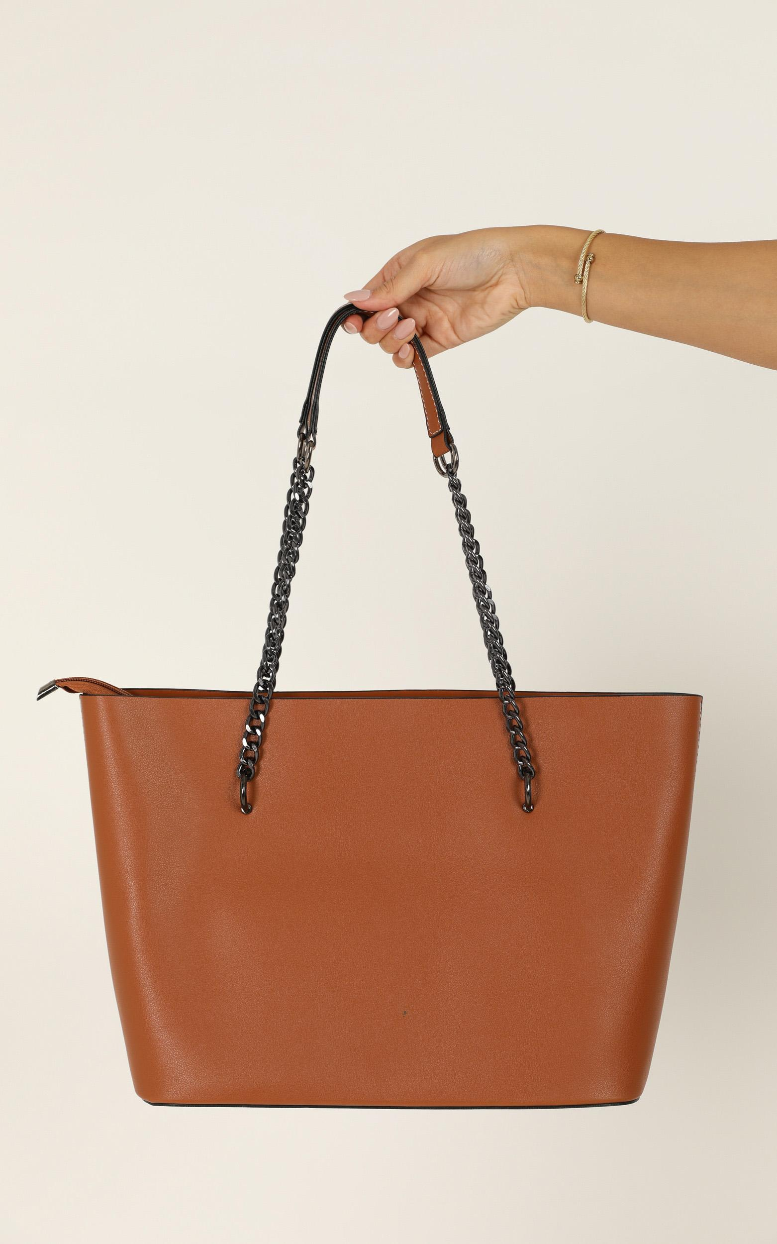 Give You Up Bag In Tan And Silver, Tan, hi-res image number null