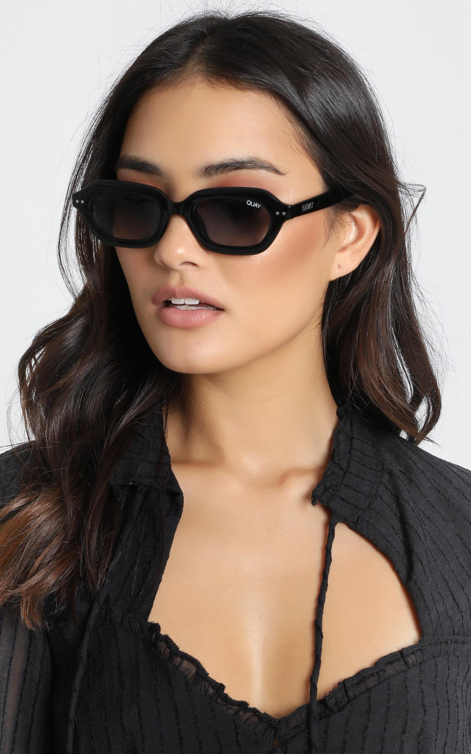 Quay - Anything Goes Sunglasses In Black, , hi-res image number null